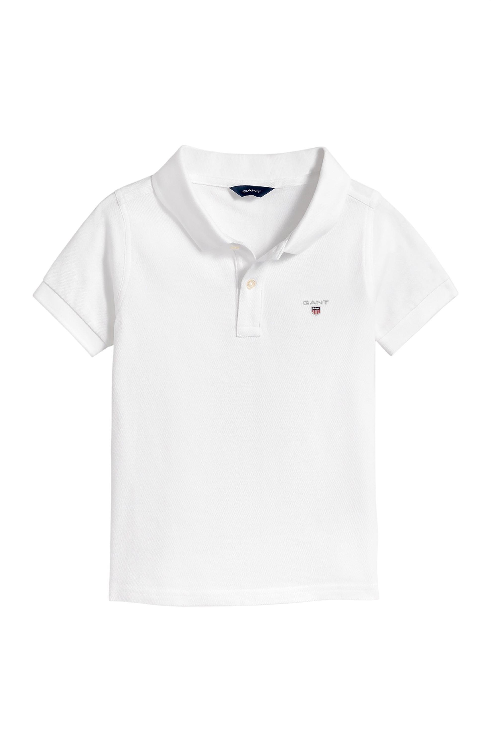 3c7a13ffbcee Notos Gant Παιδική μπλούζα polo με δίκουμπη πατιλέτα - 802201 - Λευκό