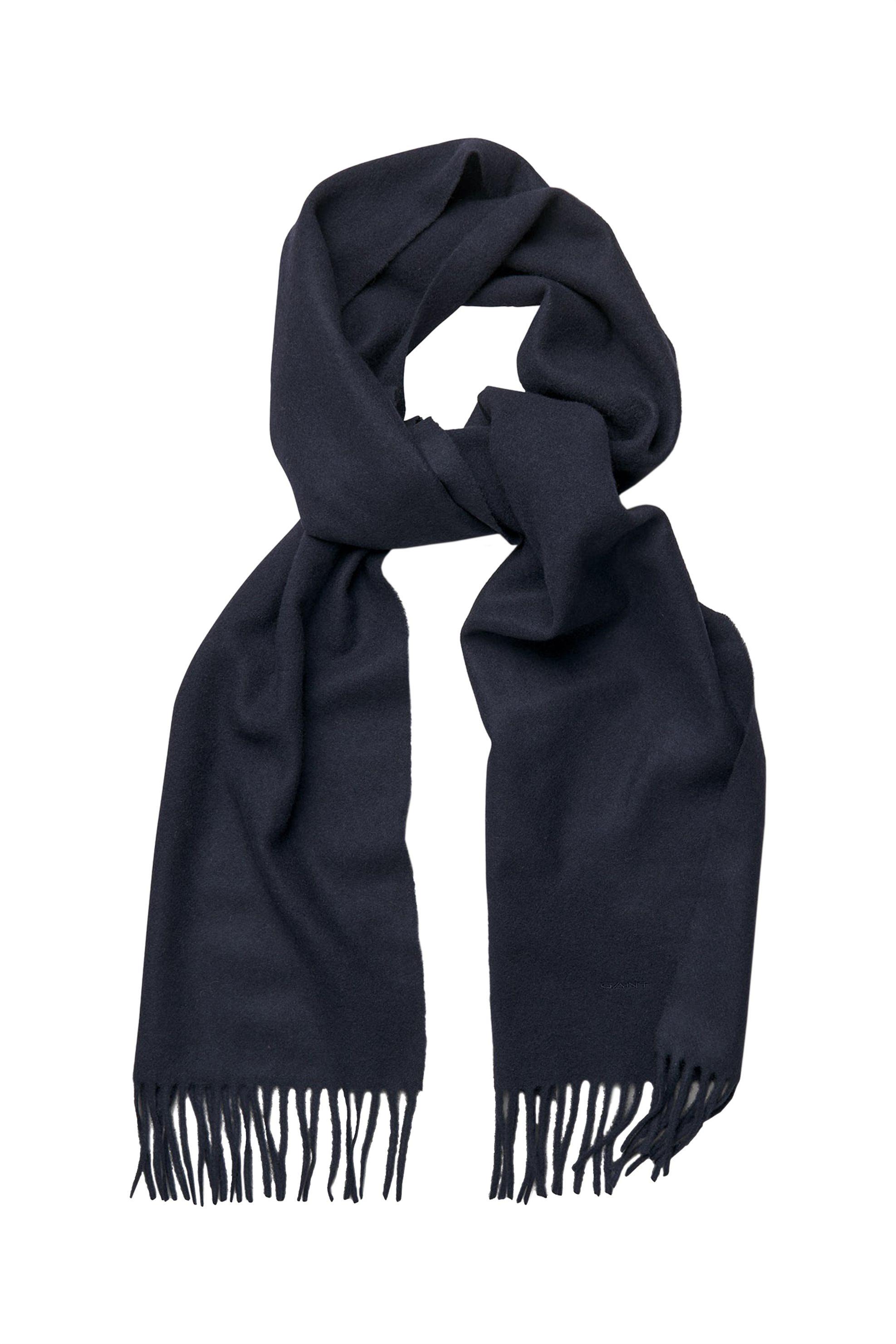 Gant ανδρικό κασκόλ με κρόσσια - 91470 - Μπλε Σκούρο ανδρασ   αξεσουαρ   κασκόλ   μαντήλια