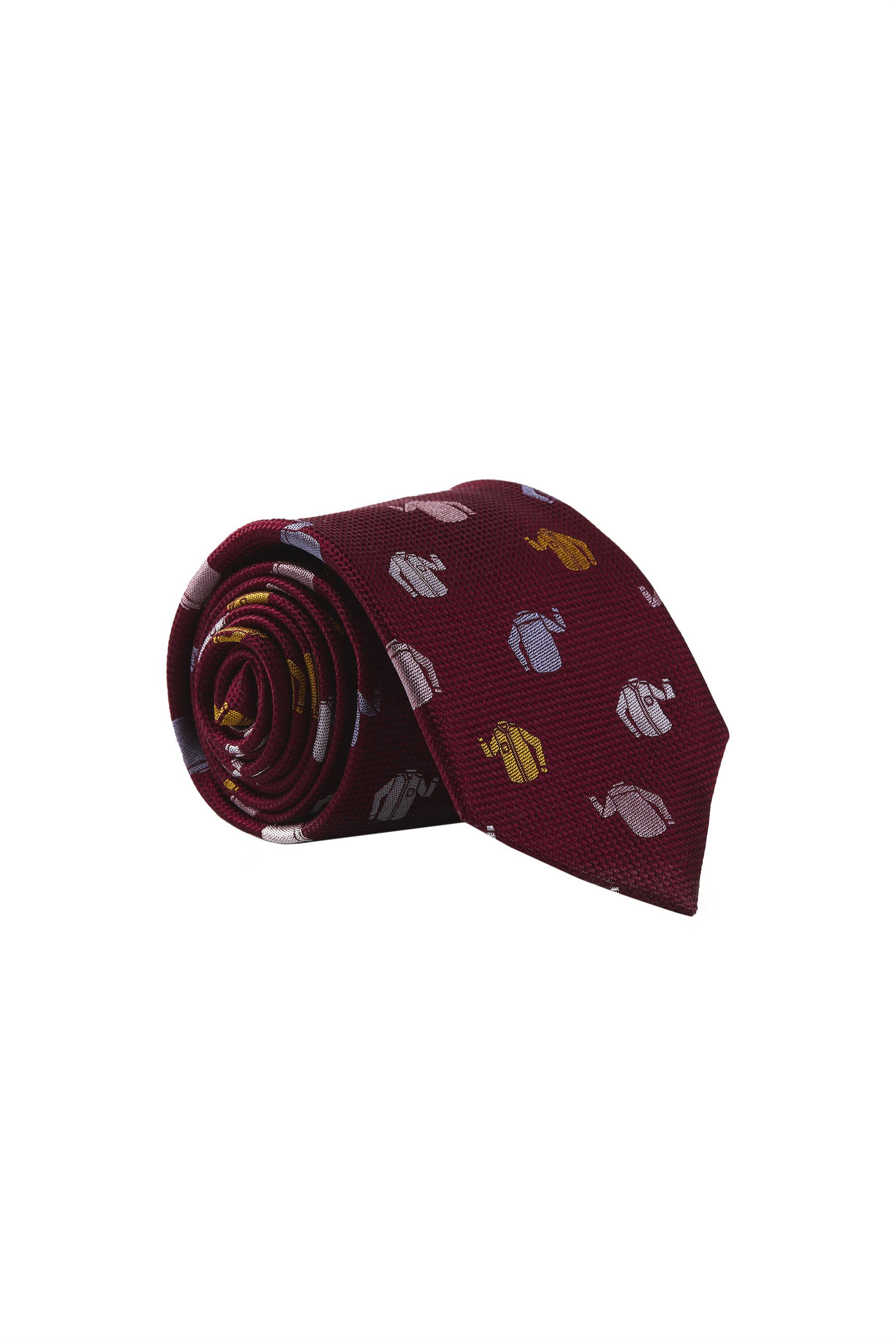 Gant ανδρική μεταξωτή γραβάτα με print - 9950089 - Κεραμιδί