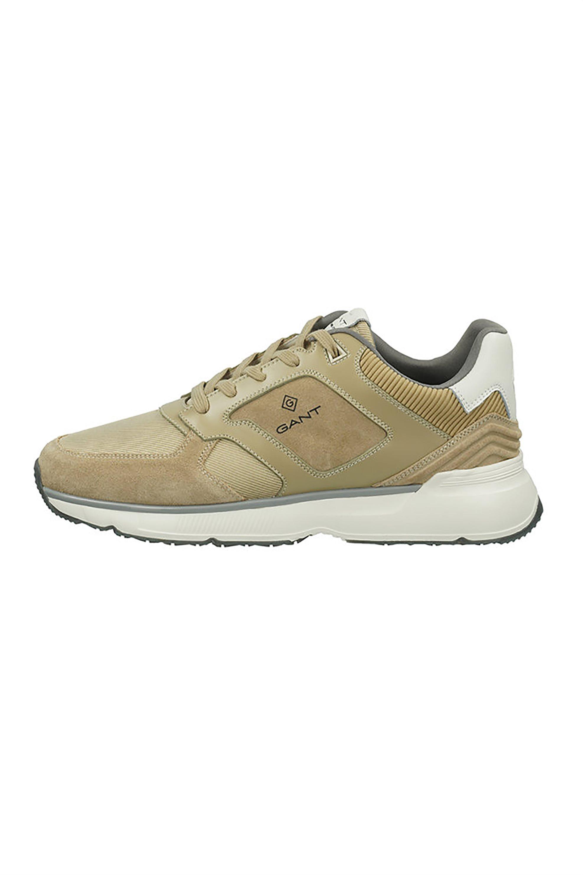 "Gant ανδρικά sneakers με logo print και suede λεπτομέρειες ""Beeker"" – 22633622 – Μπεζ"