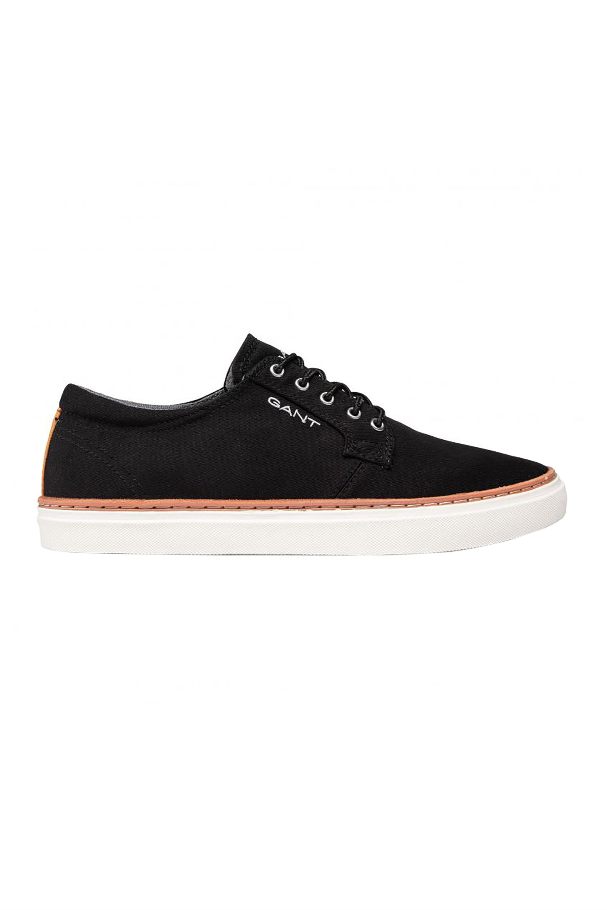 "Gant ανδρικά sneakers με logo print στο πλάι και δερμάτινες λεπτομέρειες ""Prepville"" – 22638666 – Μαύρο"