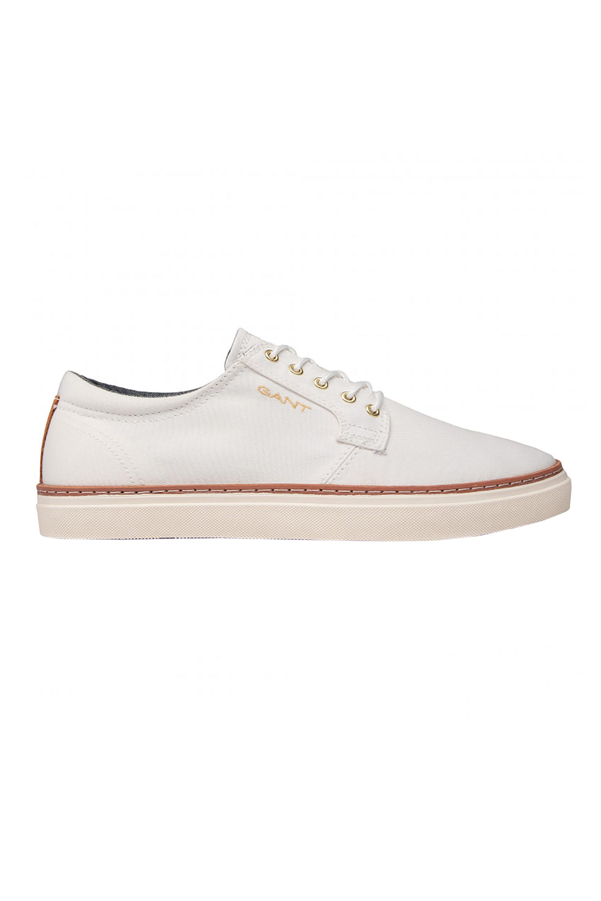 "Gant ανδρικά sneakers με logo print στο πλάι και δερμάτινες λεπτομέρειες ""Prepville"" – 22638666 – Καφέ"