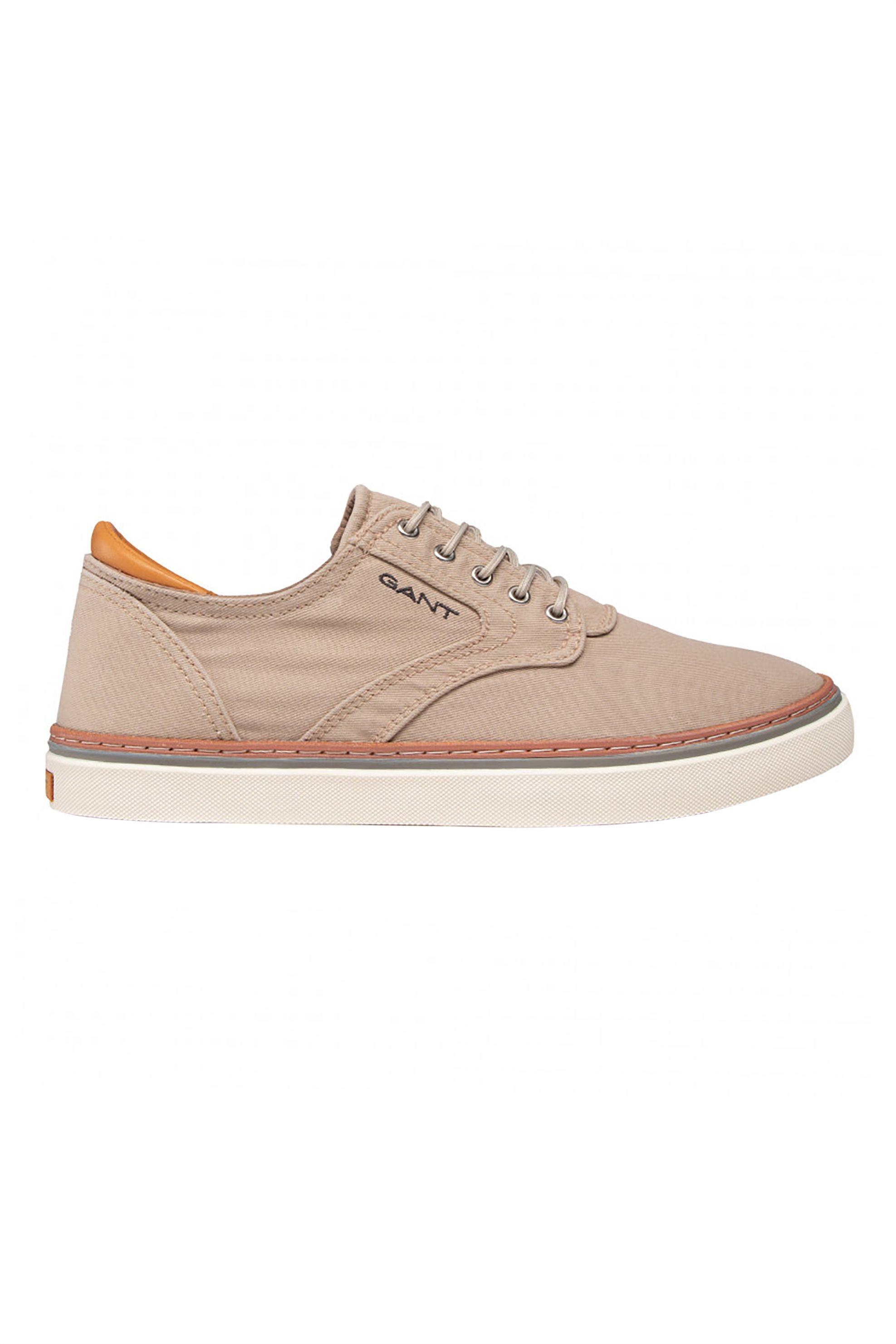 "Gant ανδρικά sneakers με logo print στο πλάι και δερμάτινες λεπτομέρειες ""Prepville"" – 22638668 – Μπεζ"