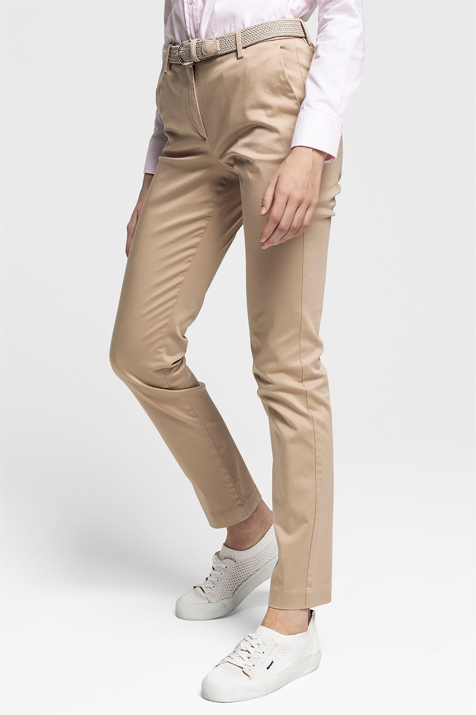 8da988592c43 Notos Gant γυναικείο παντελόνι chino cropped - 4150077 - Μπεζ