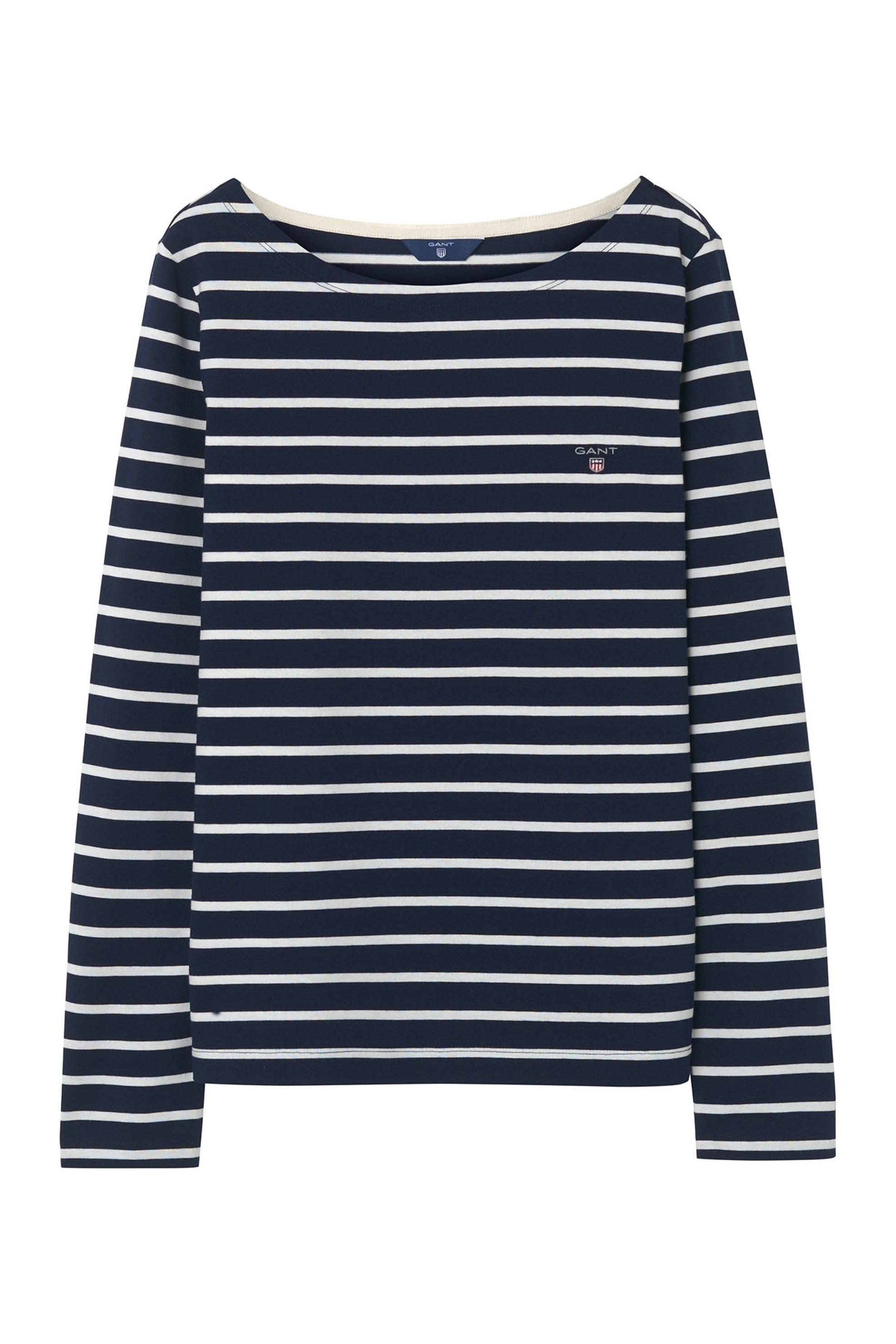 Gant γυναικεία μπλούζα ριγέ Breton Stripe - 4202401 - Μπλε Σκούρο γυναικα   ρουχα   tops   μπλούζες   casual