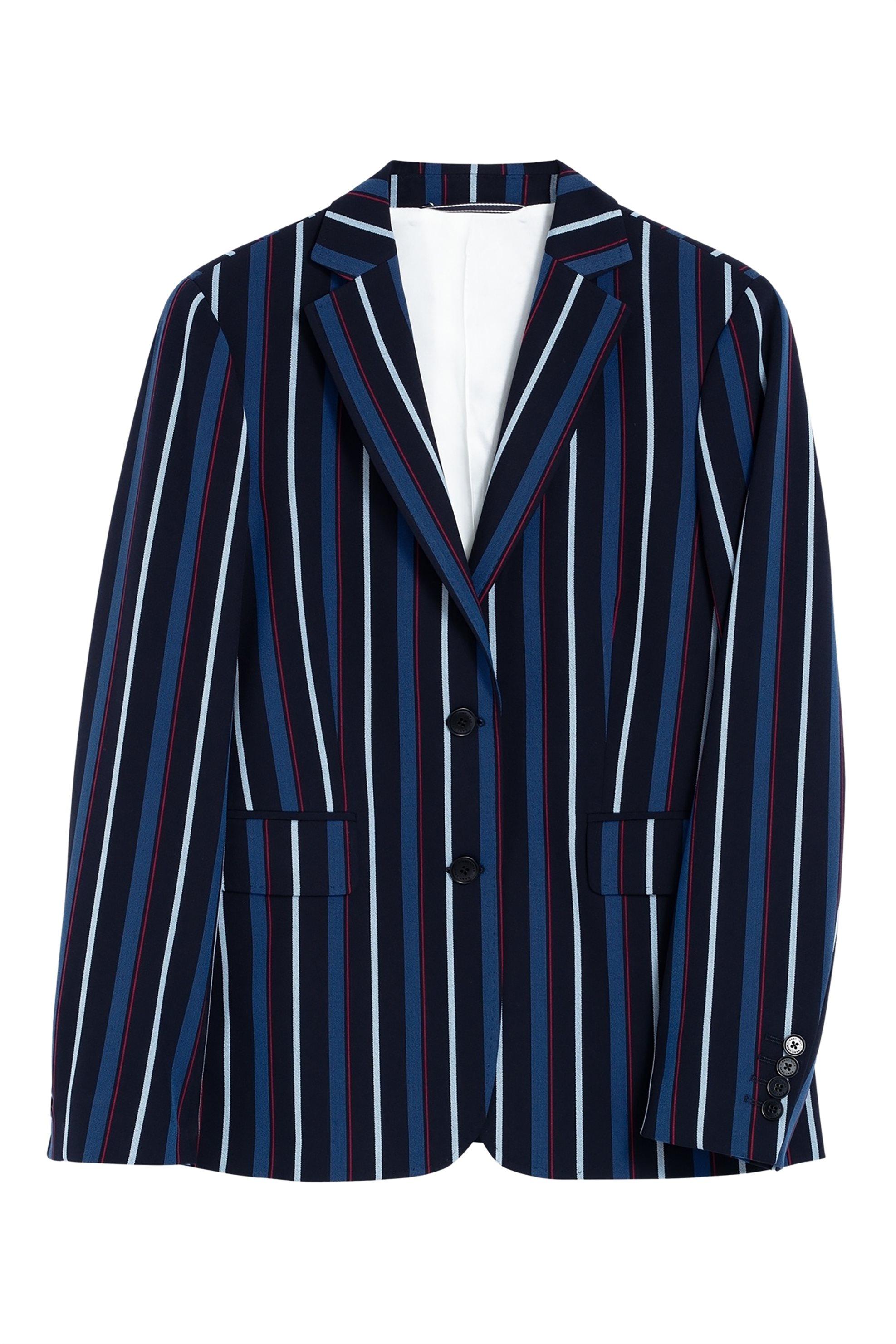 Gant γυναικείο ριγέ σακάκι Washable Regimental Stripe - 4770043 - Μπλε Σκούρο γυναικα   ρουχα   πανωφόρια   μπουφάν   σακάκια   σακάκια