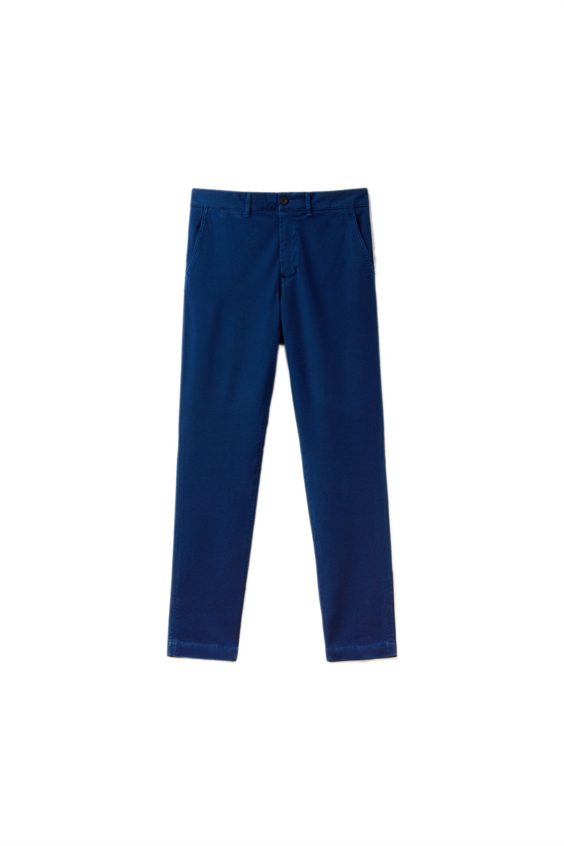 4d2b976d3b56 Notos Ανδρικό παντελόνι chino μονόχρωμο Modern Heritage Collection Lacoste  - HH4663 - Μπλε Ηλεκτρίκ