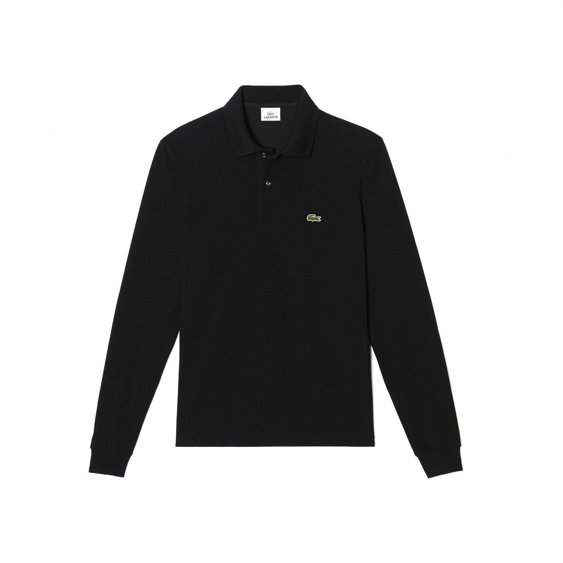 Lacoste ανδρική μπλούζα Polo L.12.12 με μακρύ μανίκι - L1312 - Μαύρο ανδρασ   ρουχα    νεεσ αφιξεισ   μπλούζες   πόλο