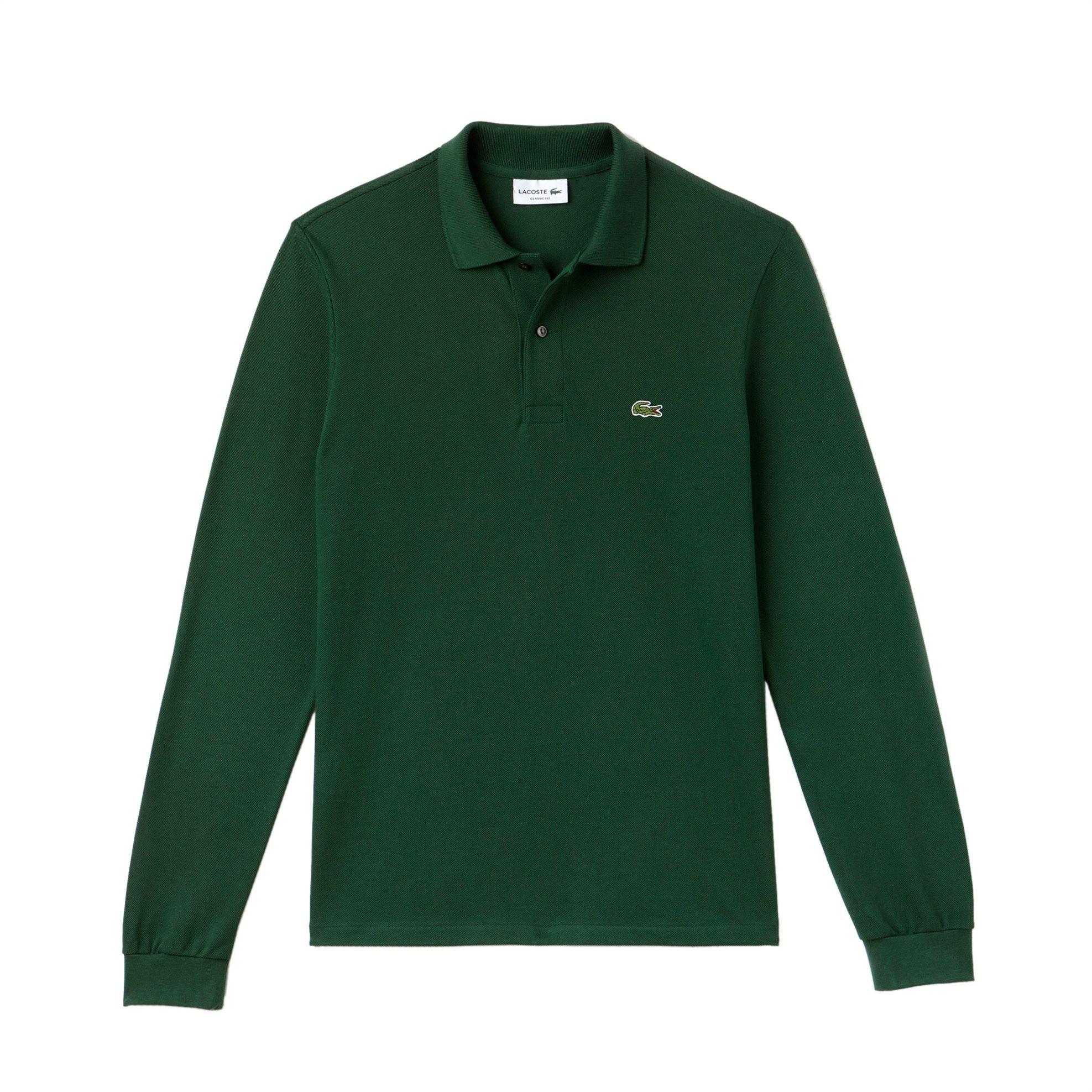 Lacoste ανδρική μπλούζα Polo L.12.12 με μακρύ μανίκι - L1312 - Κυπαρισσί ανδρασ   ρουχα    νεεσ αφιξεισ   μπλούζες   πόλο
