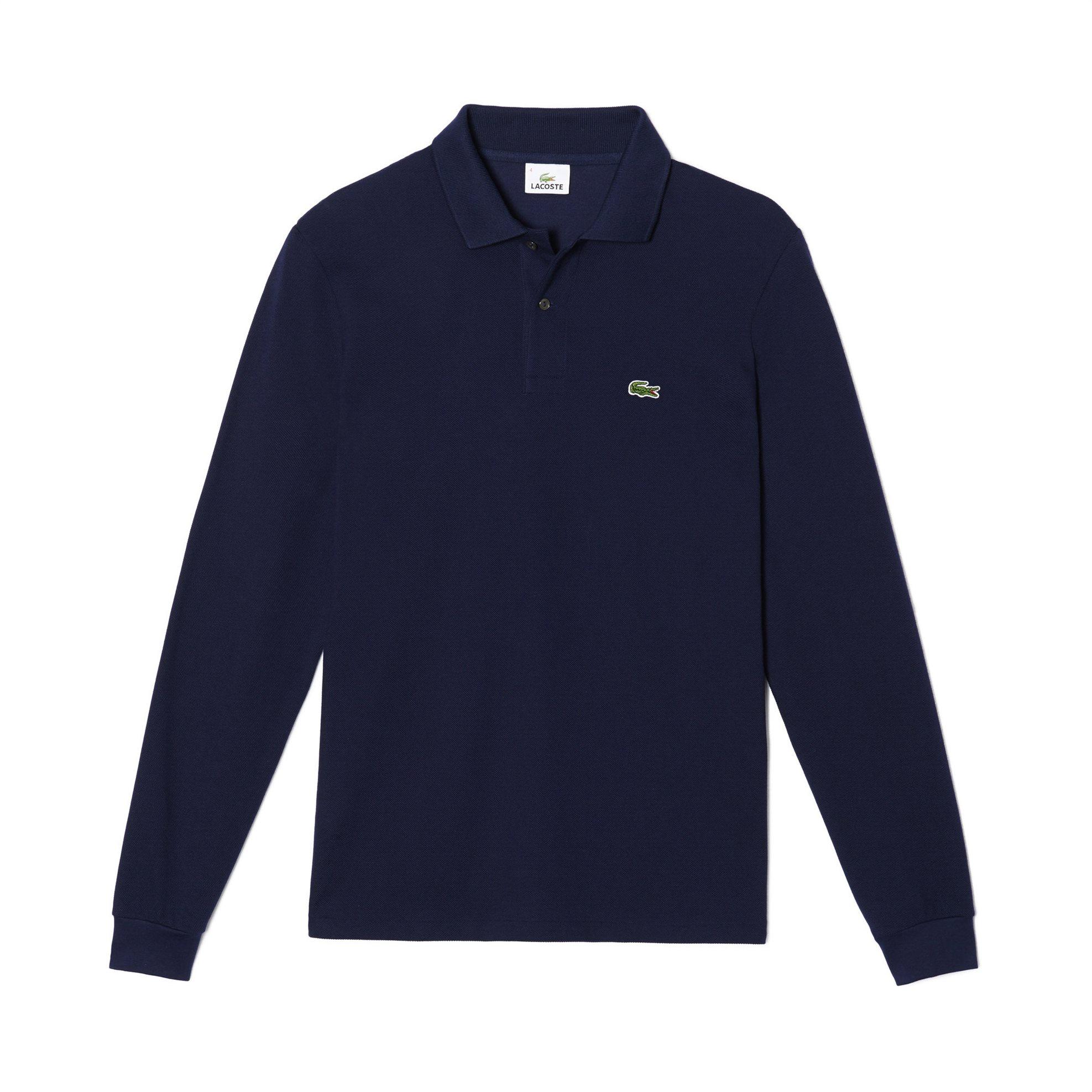 Lacoste ανδρική μπλούζα Polo L.12.12 με μακρύ μανίκι - L1312 - Μπλε Σκούρο ανδρασ   ρουχα    νεεσ αφιξεισ   μπλούζες   πόλο