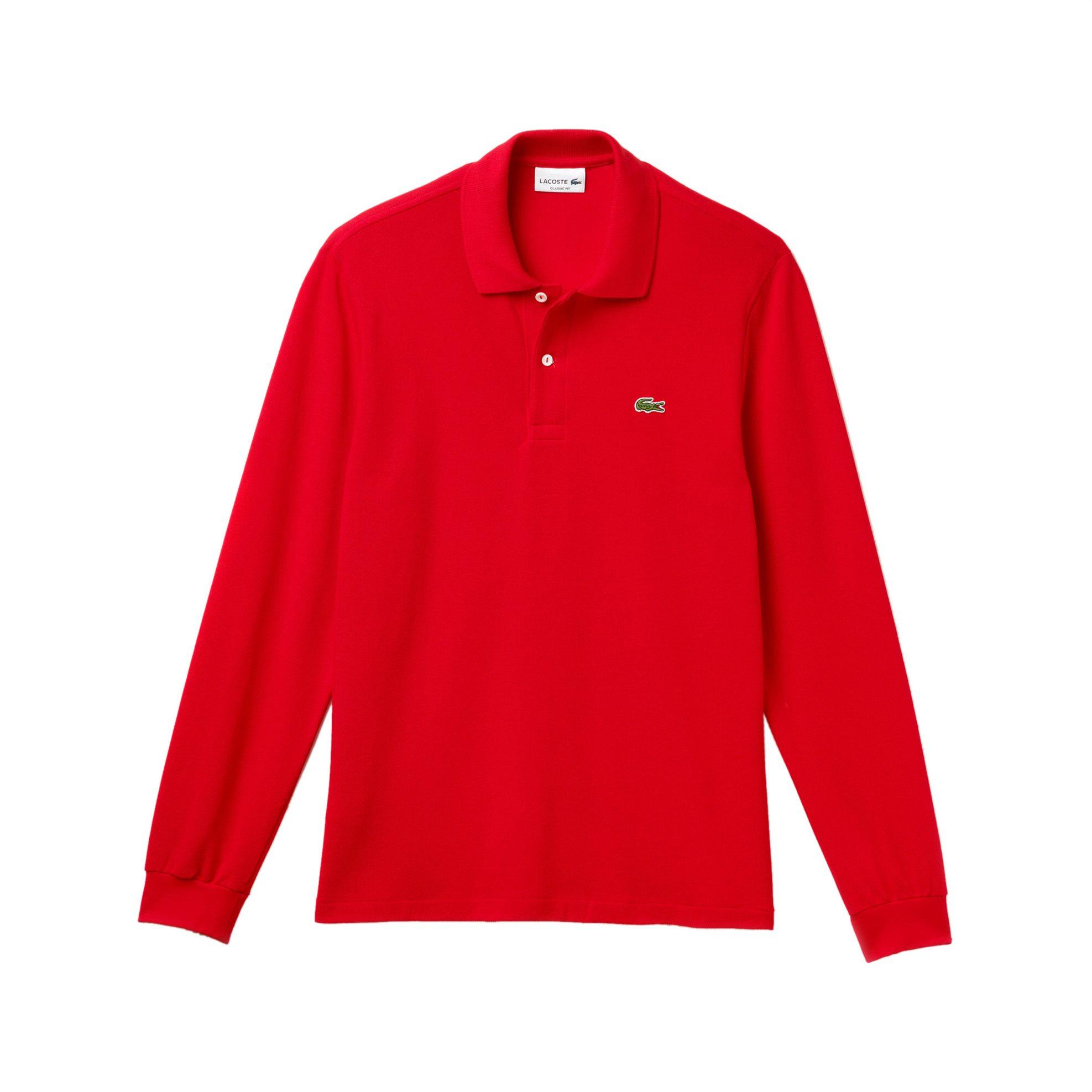Lacoste ανδρική μπλούζα Polo L.12.12 με μακρύ μανίκι - L1312 - Κόκκινο ανδρασ   ρουχα    νεεσ αφιξεισ   μπλούζες   πόλο