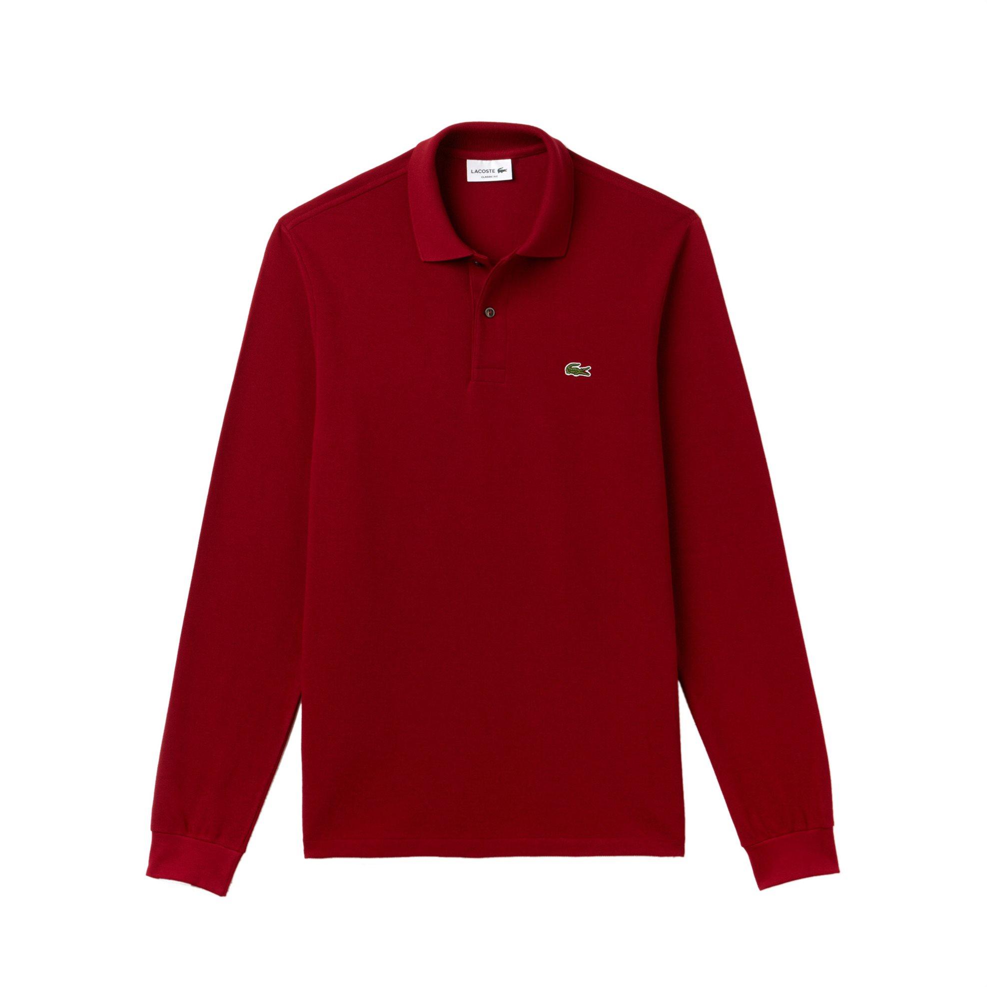 Lacoste ανδρική μπλούζα Polo L.12.12 με μακρύ μανίκι - L1312 - Μπορντό ανδρασ   ρουχα    νεεσ αφιξεισ   μπλούζες   πόλο
