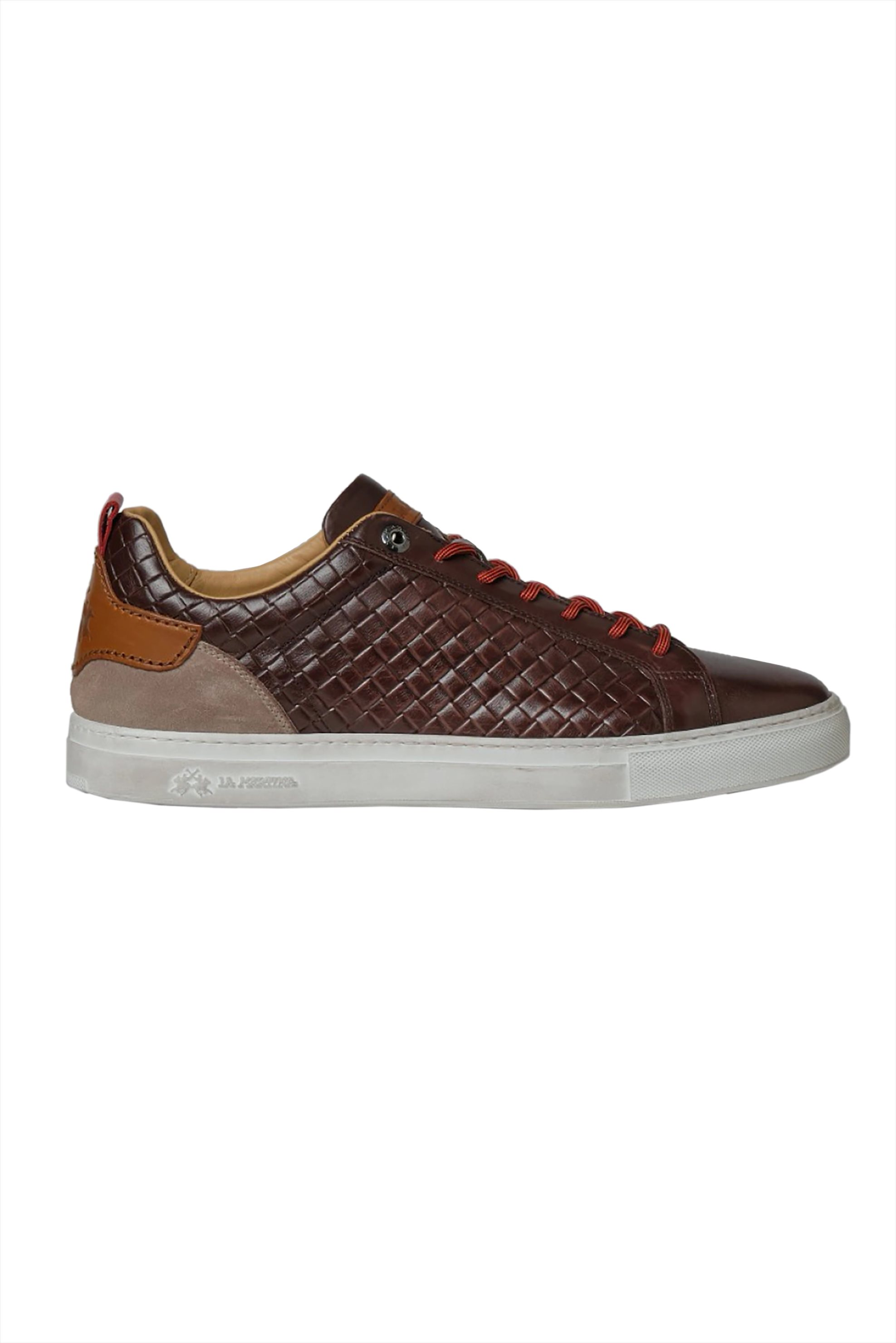 La Martina ανδρικά sneakers με ανάγλυφο σχέδιο και contrast λεπτομέρειες – LFM211012-2080 – Καφέ