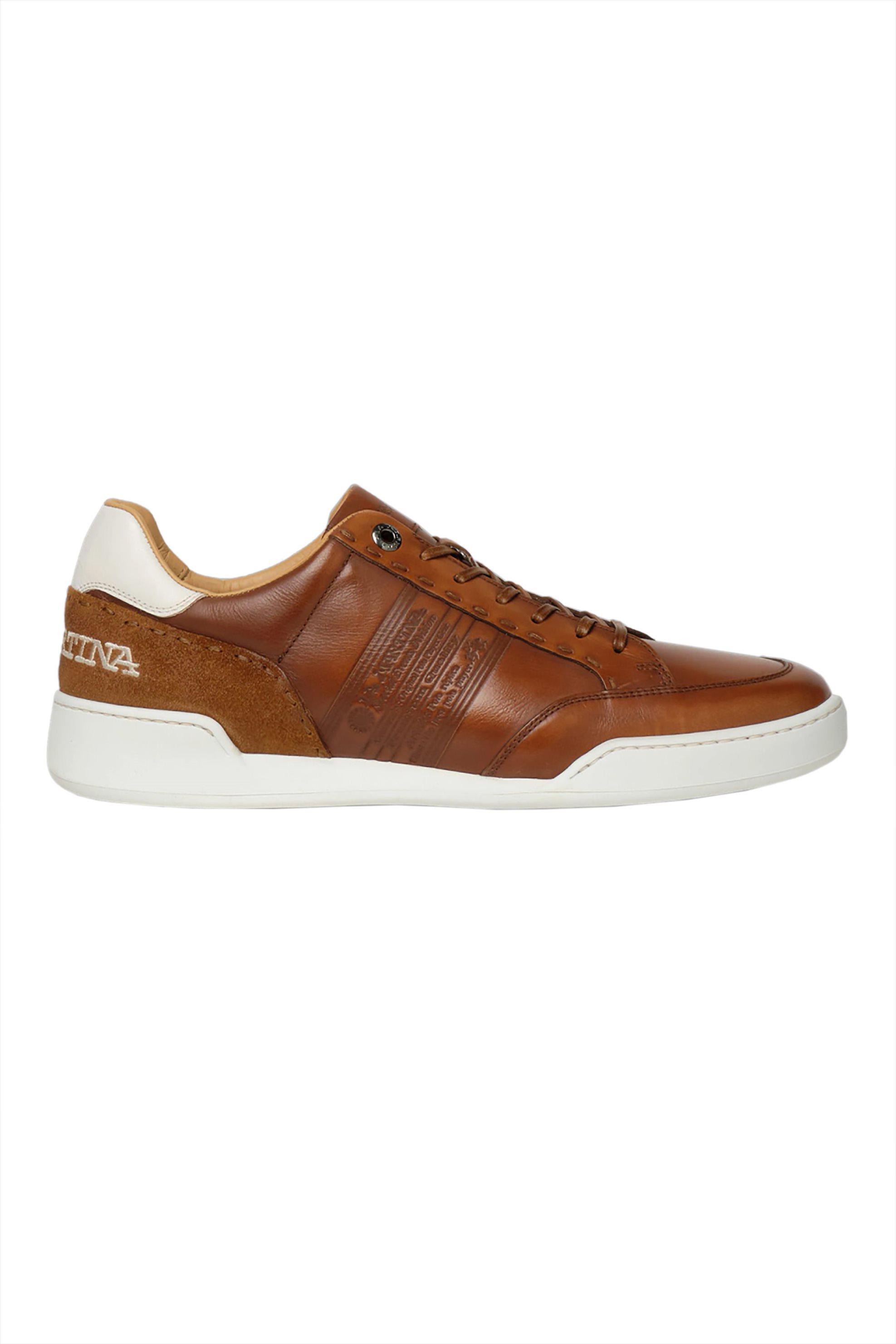La Martina ανδρικά sneakers με διακοσμητικές ραφές και contrast λεπτομέρειες – LFM211040-2240 – Ταμπά