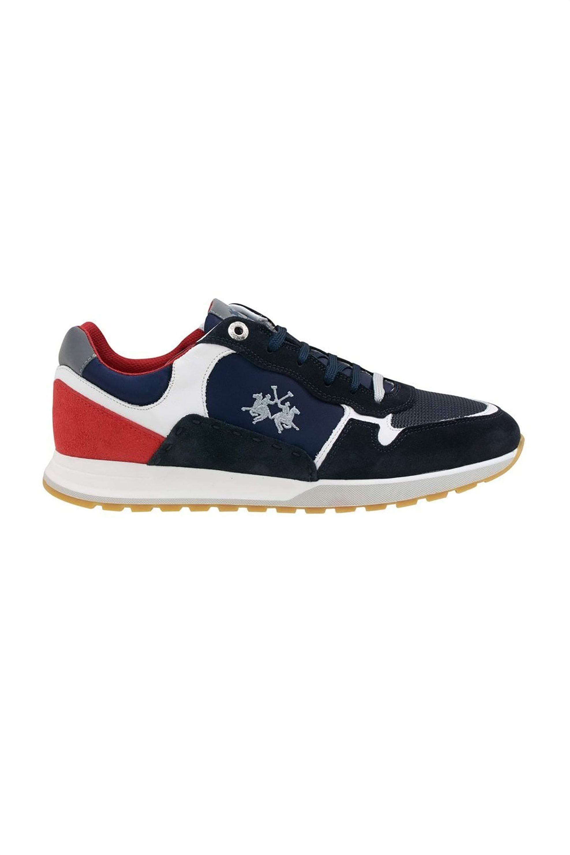 La Martina ανδρικά sneakers colourblocked με suede στοιχεία – LFM211050-2210 – Μπλε Σκούρο