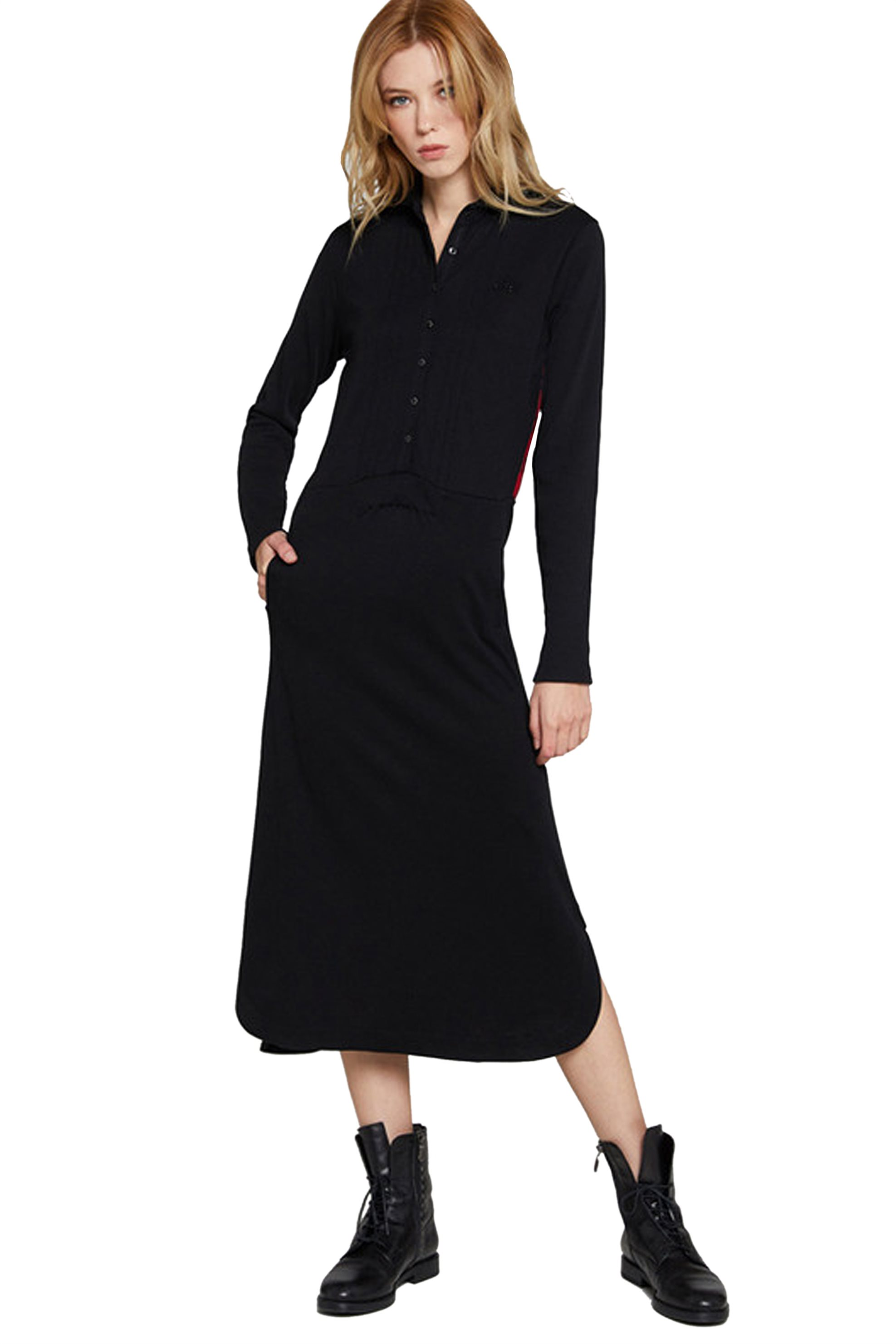 La Martina Γυναικείo Φόρεμα Με Καρό Πλάτη Isotta - MWD600-PK033 - Μαύρο