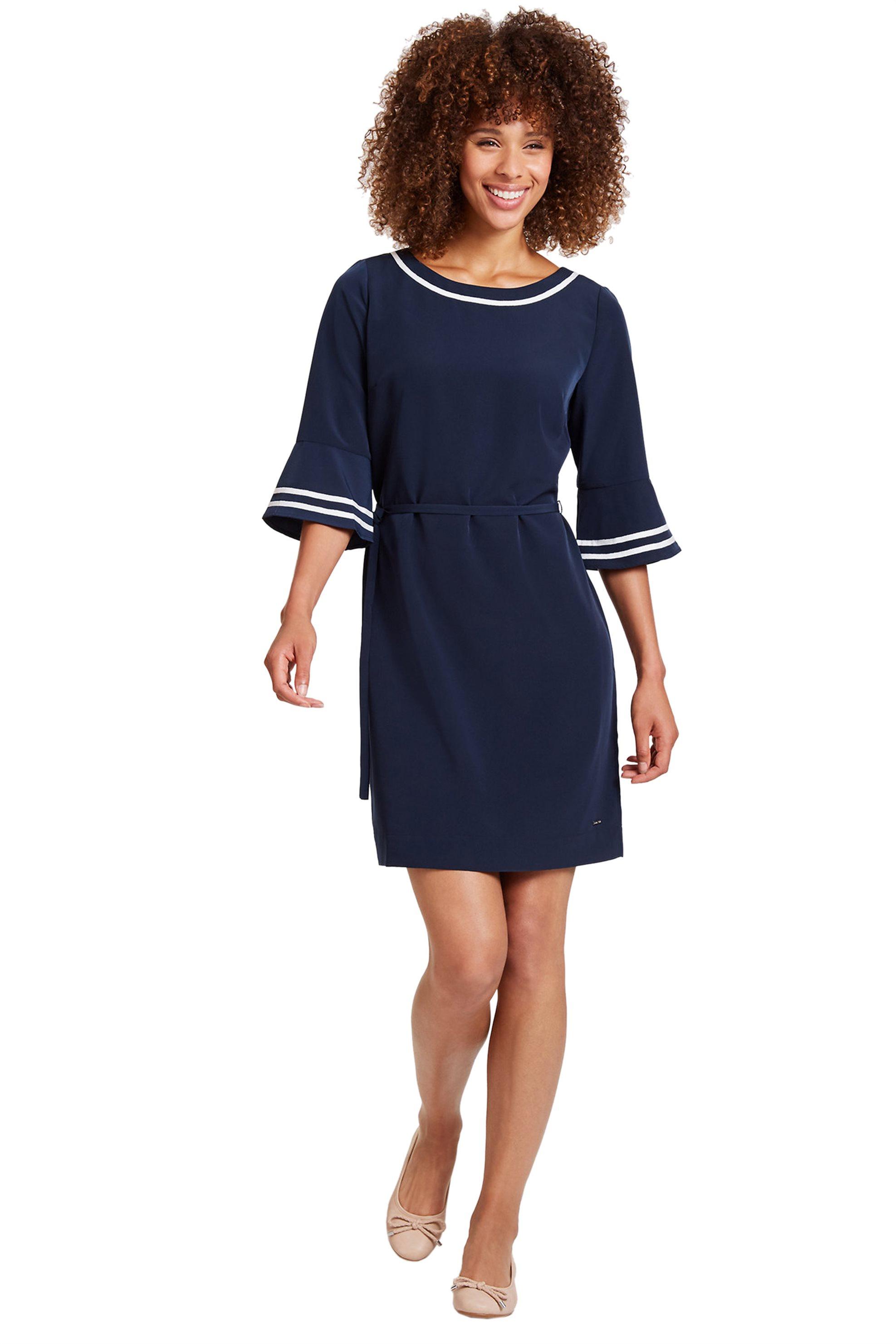 Nautica γυναικείο φόρεμα με μανίκι καμπάνα - 83D208 - Μπλε Σκούρο γυναικα   ρουχα   φορέματα   mini φορέματα