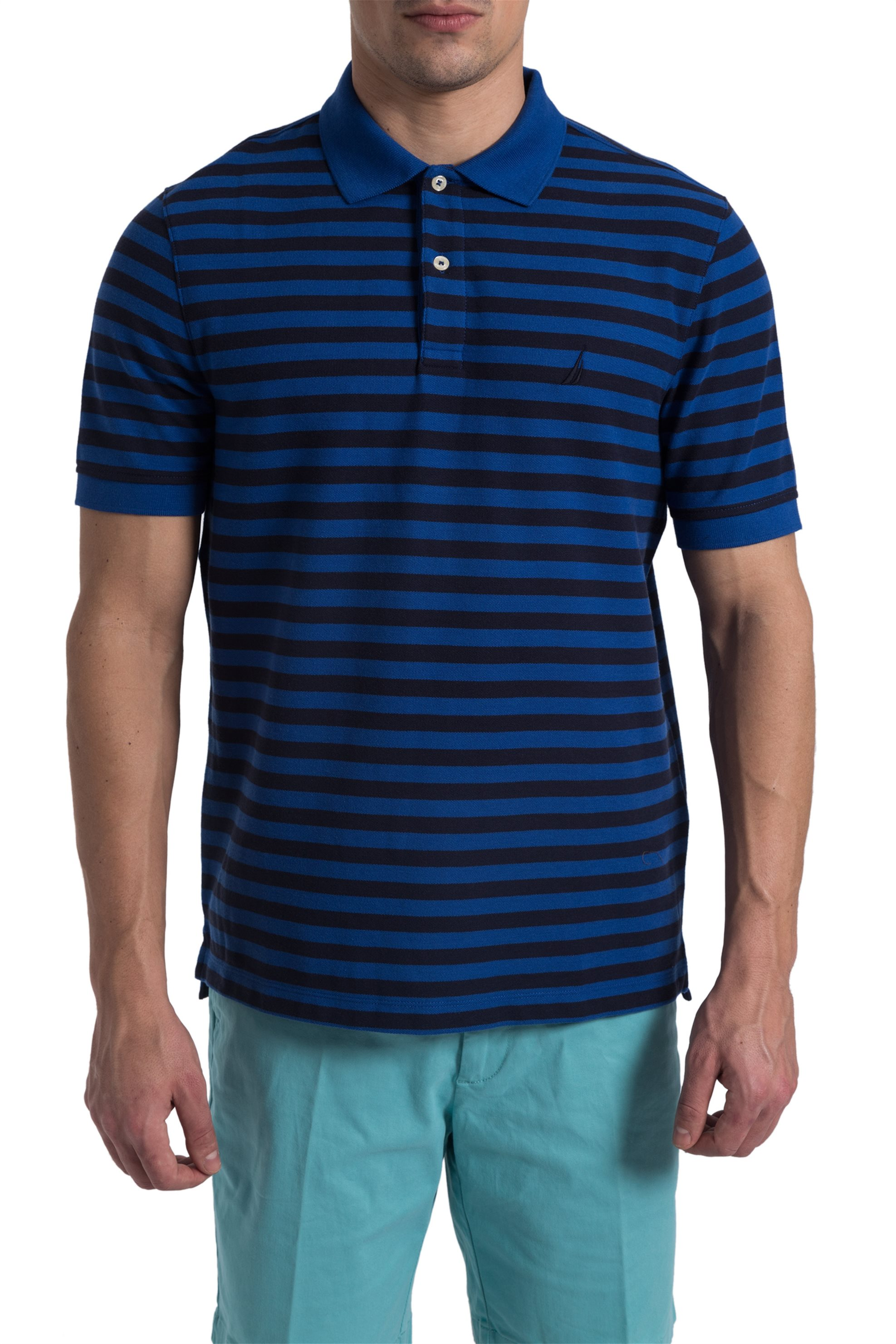 85f11228e802 Ανδρική ριγέ μπλούζα polo Nautica - K81003 - Μπλε Ηλεκτρίκ