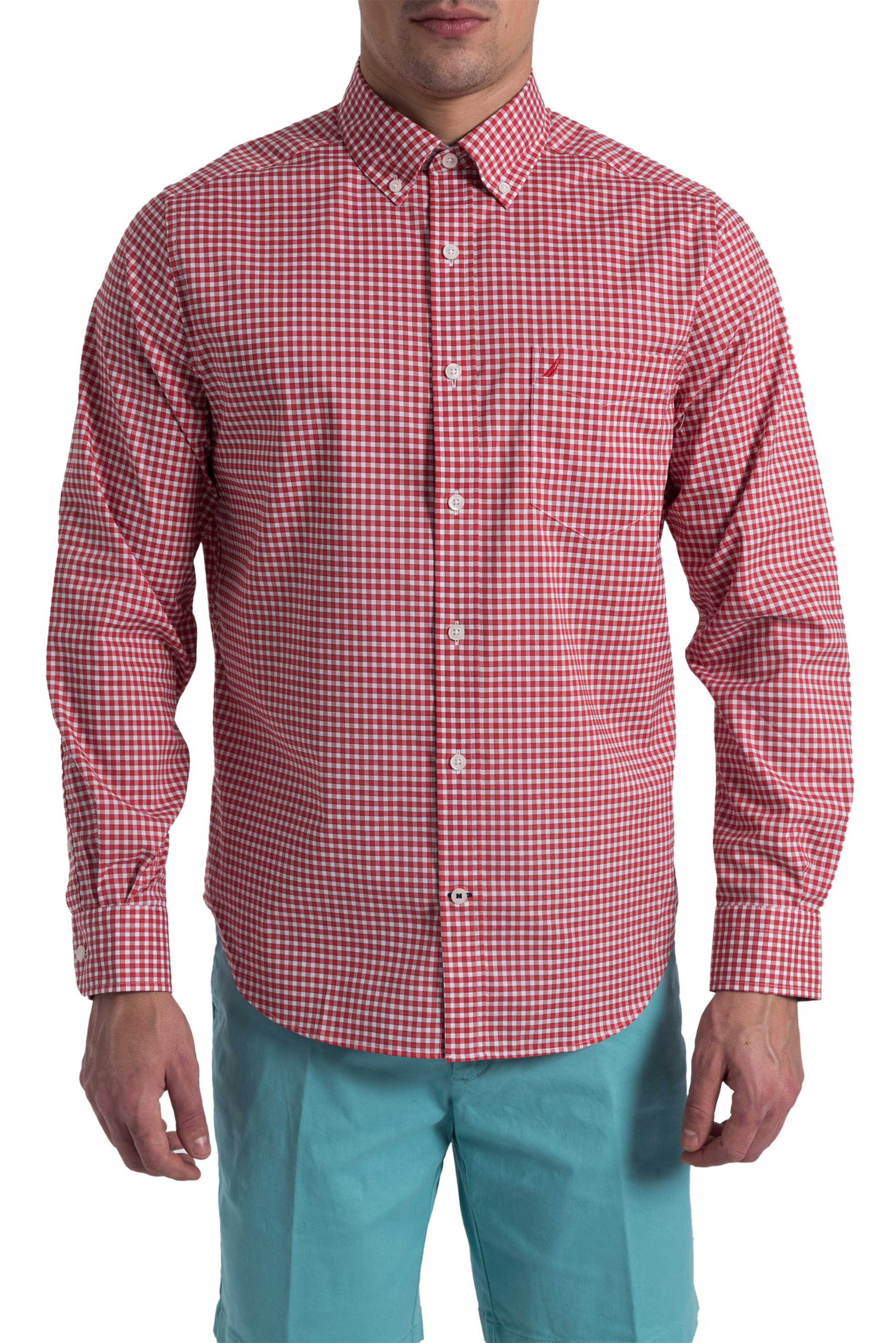 bd38b6c94016 Notos Ανδρικό καρό πουκάμισο Nautica - W81126 - Κόκκινο