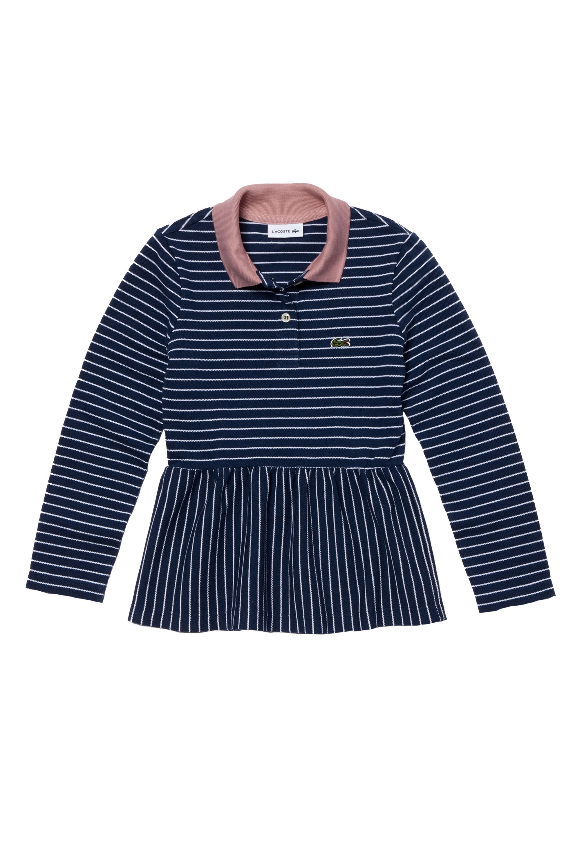 Lacoste παιδική μπλούζα πόλο μακρυμάνικη ριγέ Kids Collection - PJ9811 - Μπλε Σκ παιδι   κοριτσι   4 14 ετων   tops   παντελόνια   μπλούζες   πουκάμισα   πόλο