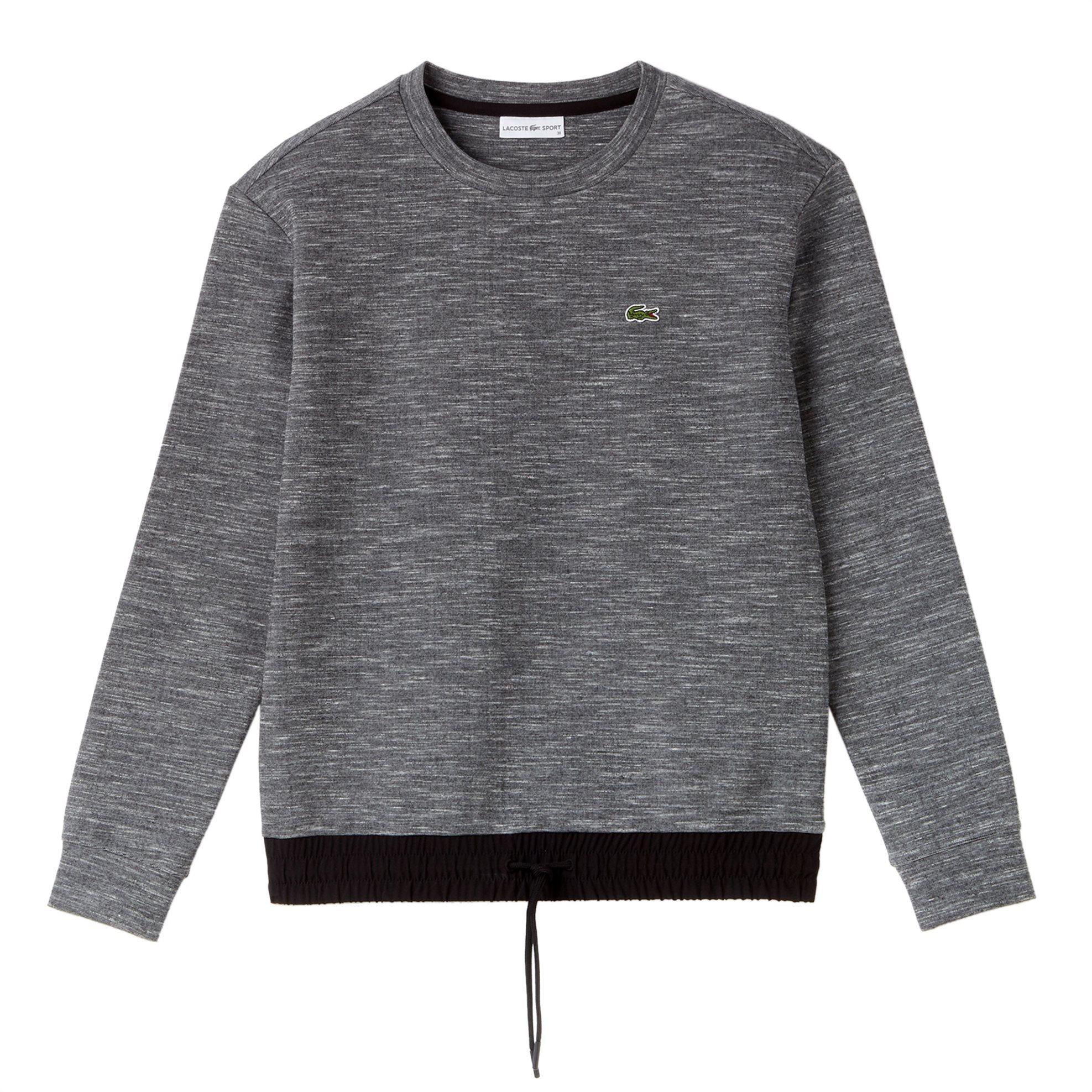 Lacoste γυναικεία μπλούζα fleece Lacoste's Tennis Collection - SF9233 - Ανθρακί γυναικα   ρουχα   tops   φούτερ μπλούζες   ζακέτες