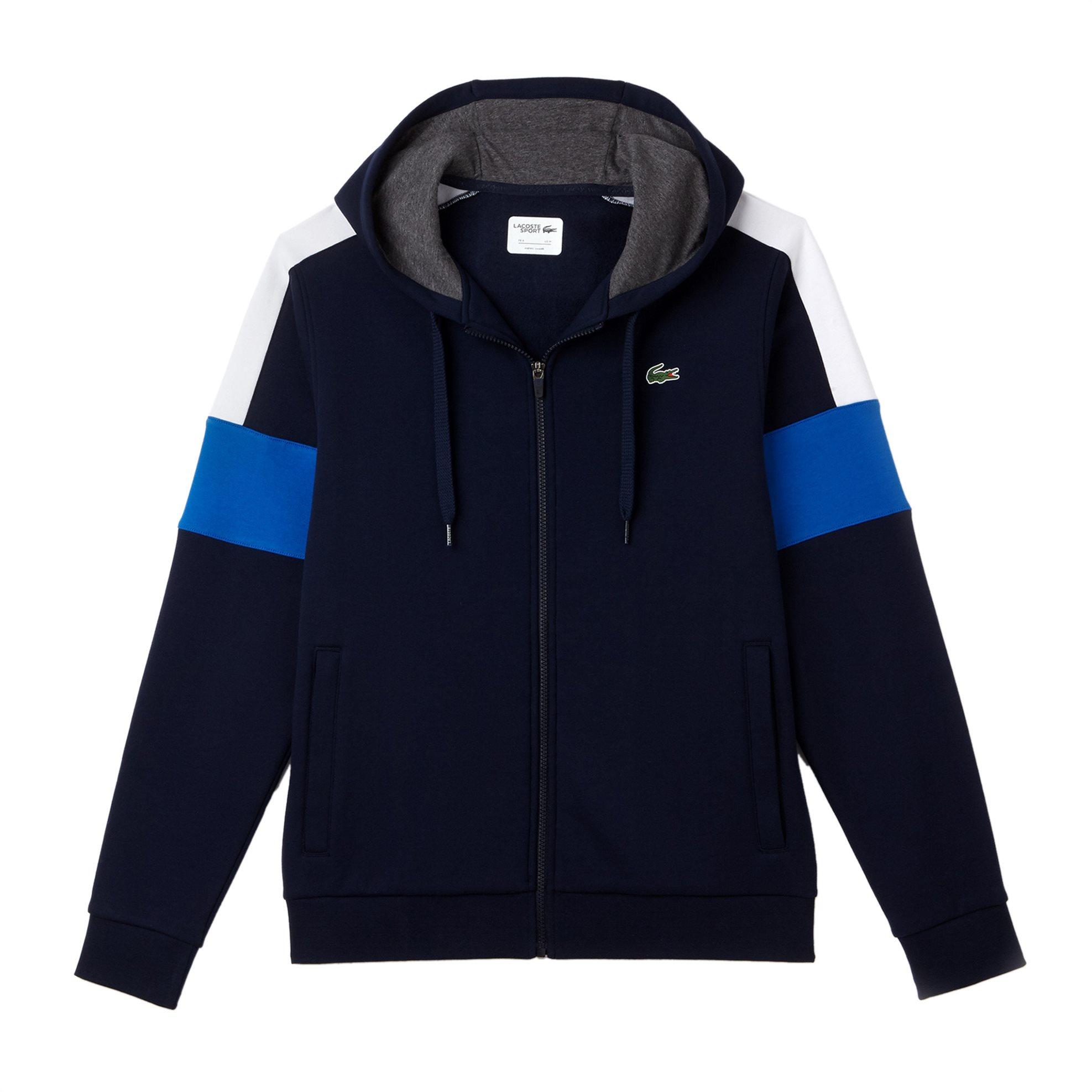 Lacoste ανδρική ζακέτα φούτερ με colorblocks Lacoste's Tennis Collection - SH949 ανδρασ   ρουχα   μπλούζες   φούτερ   ζακέτες