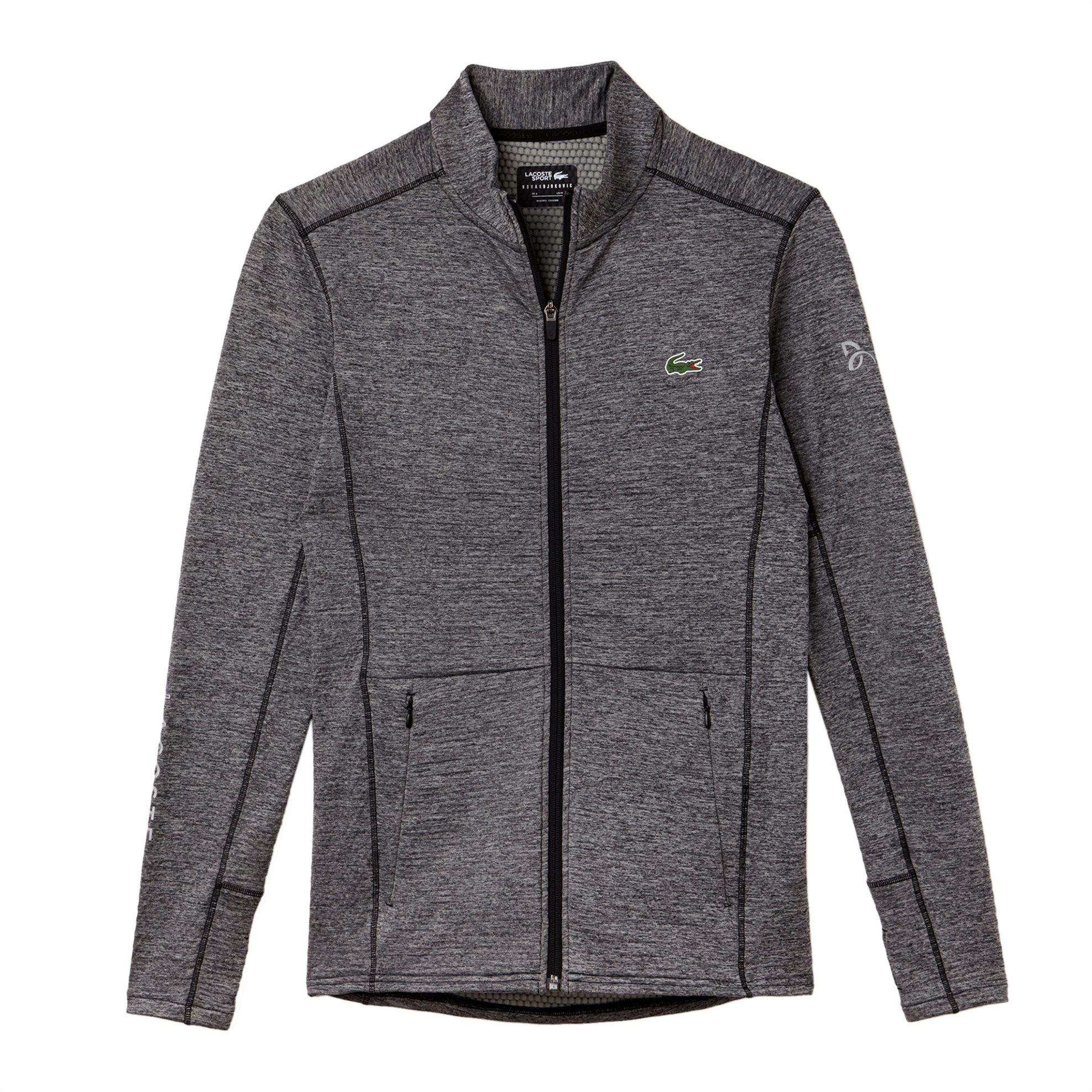 Lacoste ανδρική ζακέτα φούτερ μονόχρωμη με slit τσέπες Novak Djokovic Collection ανδρασ   ρουχα   μπλούζες   φούτερ μπλούζες   ζακέτες
