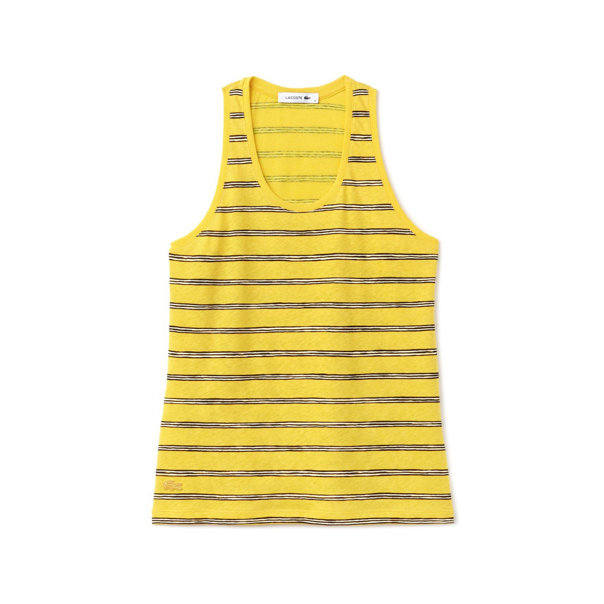 Γυναικείο τοπ αμάνικο με ρίγες Spring Bloom S/S 2018 Collection Lacoste - TF3744 γυναικα   ρουχα   tops   αμάνικα