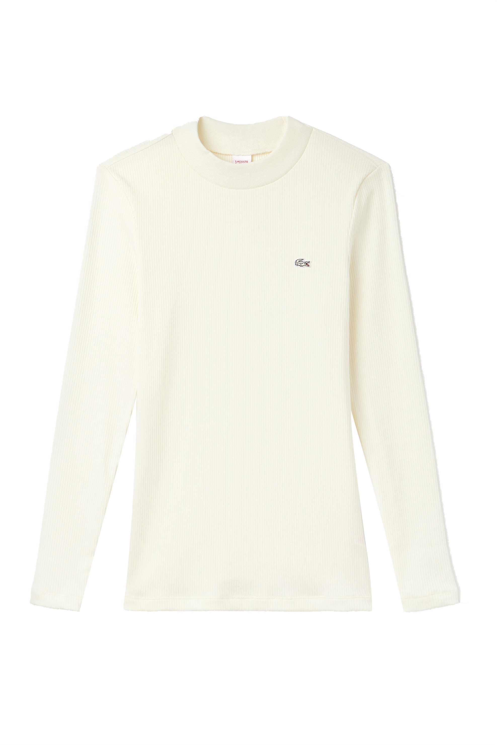 Lacoste γυναικεία μπλούζα μονόχρωμη Lacoste Live! Wild Side Collection  - TF896 γυναικα   ρουχα   tops   μπλούζες   casual