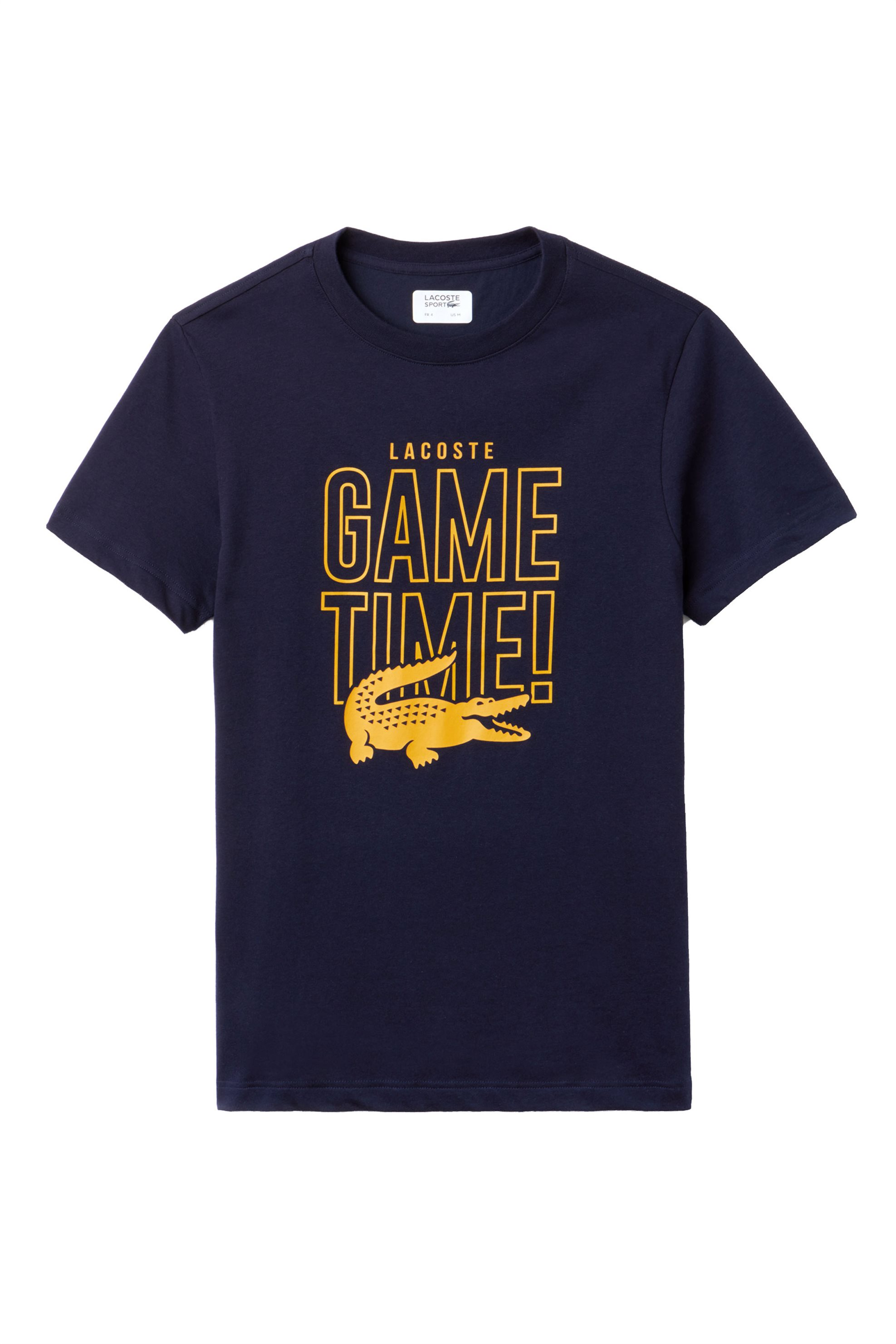 Lacoste ανδρικό T-shirt με graphic print και lettering Game Time Lacoste's Tenni ανδρασ   ρουχα   μπλούζες   t shirts