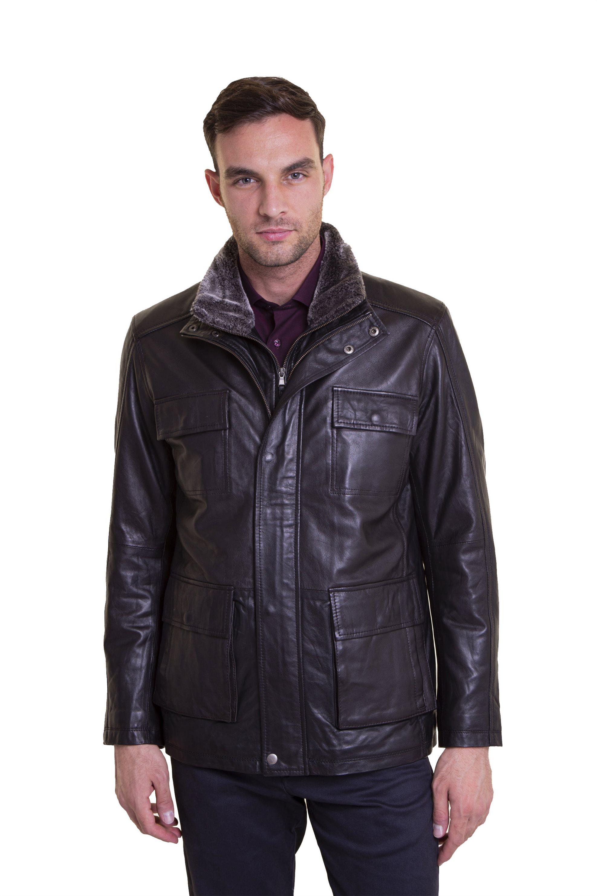 The Bostonians ανδρικό μπουφάν δερμάτινο με φερμουάρ - WL00201 - Μαύρο ανδρασ   ρουχα   παλτό   μπουφάν   δερμάτινα