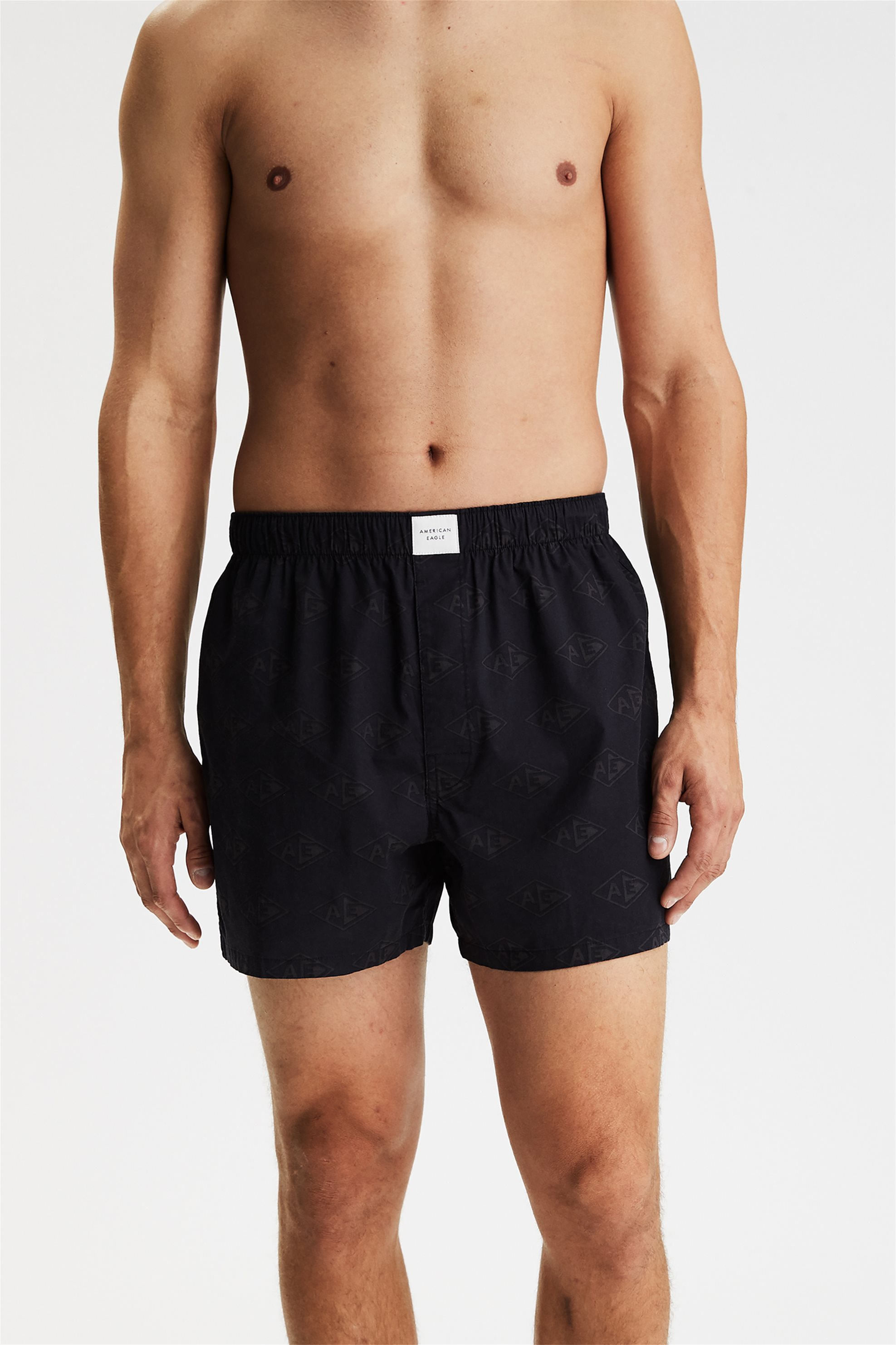 AEO Diamond Logo Stretch Boxer Short - 0220-9706-001 - Μαύρο