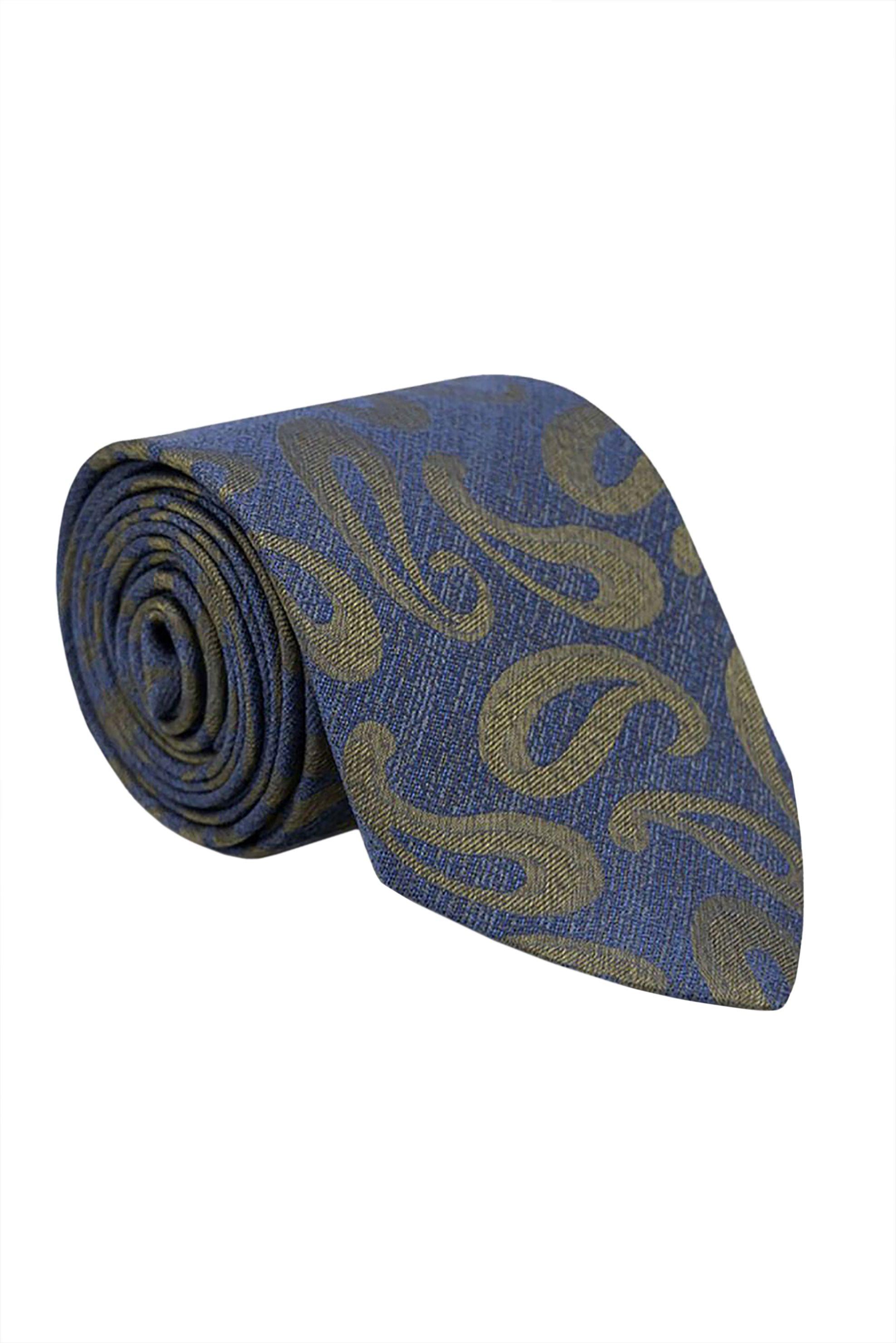 Oxford Company ανδρική μεταξωτή γραβάτα με all-over print - TIE51-414.03 - Μπλε