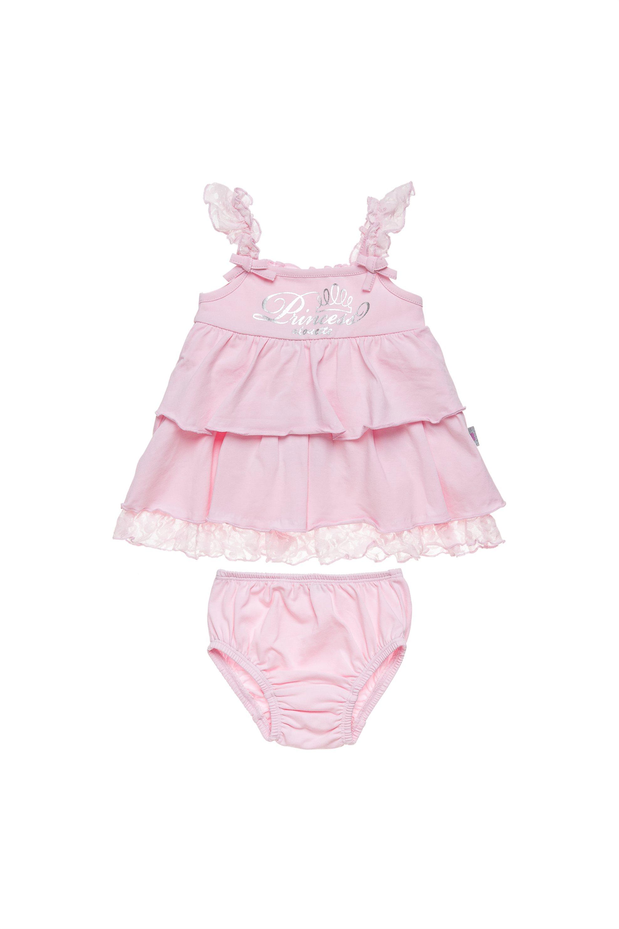 Βρεφικό φόρεμα με δαντέλα και ασορτί βρακάκι Alouette - 00440540 - Ροζ παιδι   βρεφικα κοριτσι   0 3 ετων   ρούχα   φορέματα   φούστες
