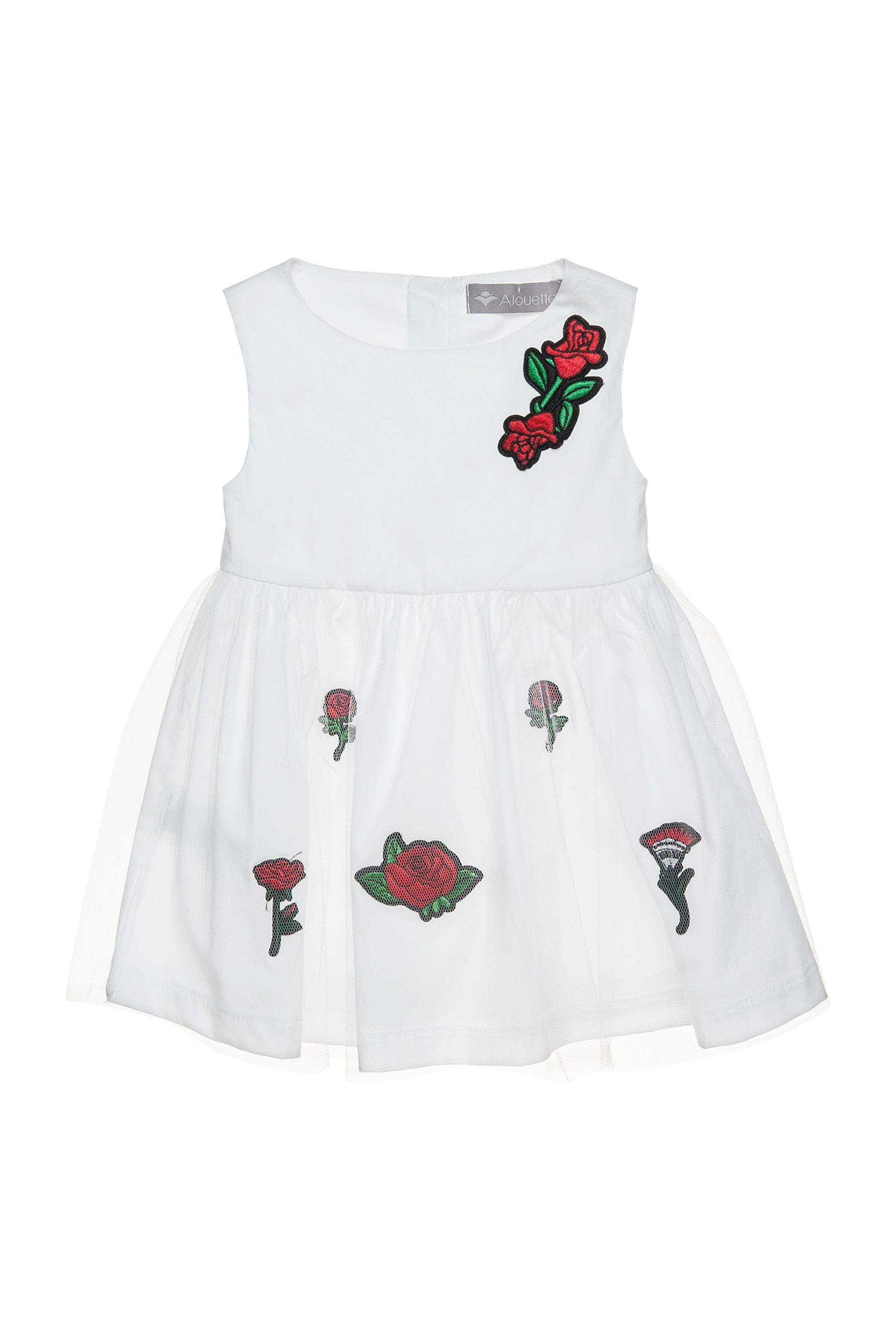 Βρεφικό αμάνικο φόρεμα με floral σχέδιο. - 00241215 - Λευκό παιδι   βρεφικα κοριτσι   0 3 ετων   ρούχα   φορέματα   φούστες