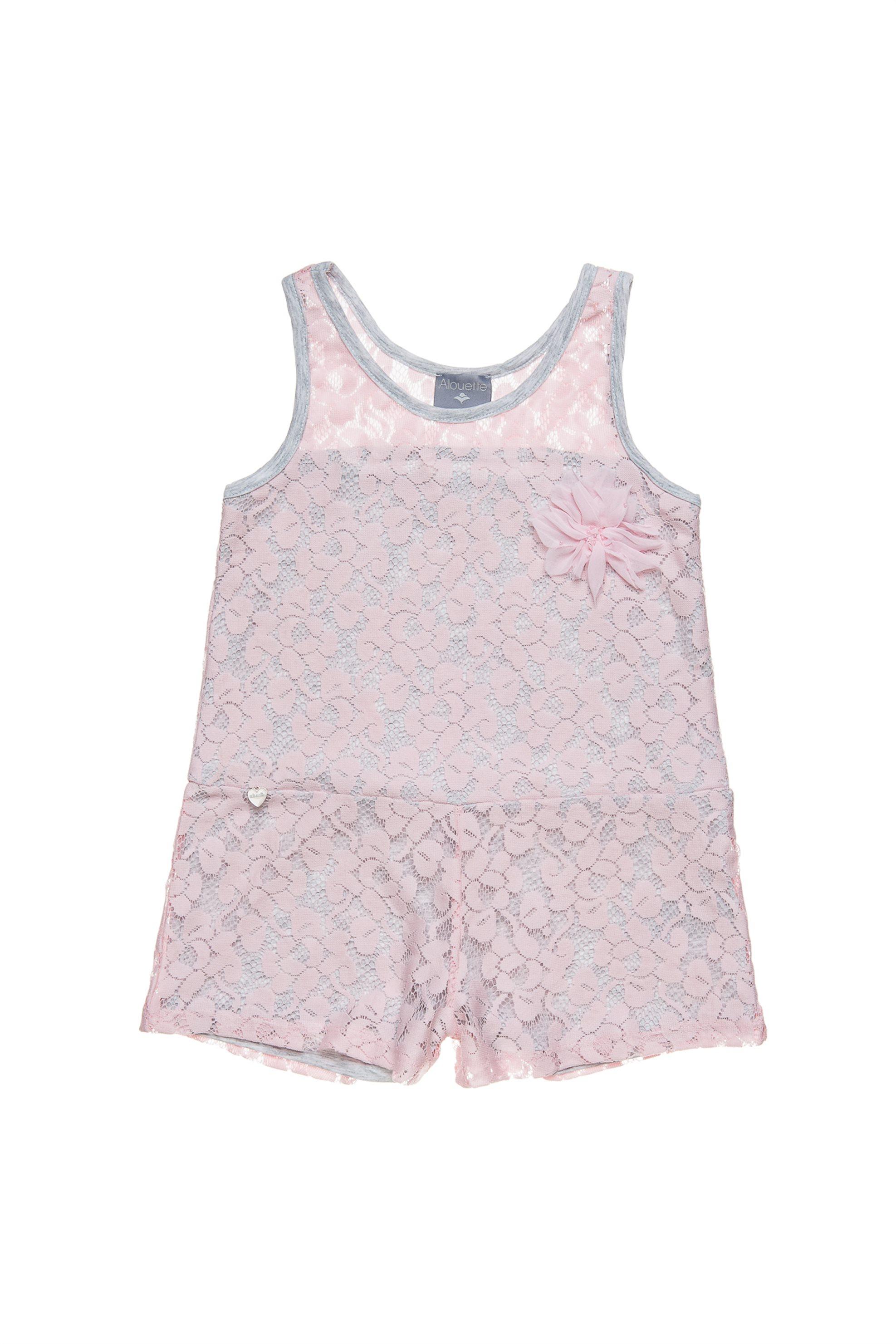 Παιδική σαλοπέτα με δαντέλα Alouette - 00912687 - Ροζ παιδι   κοριτσι   4 14 ετων   tops   παντελόνια   σαλοπέτες