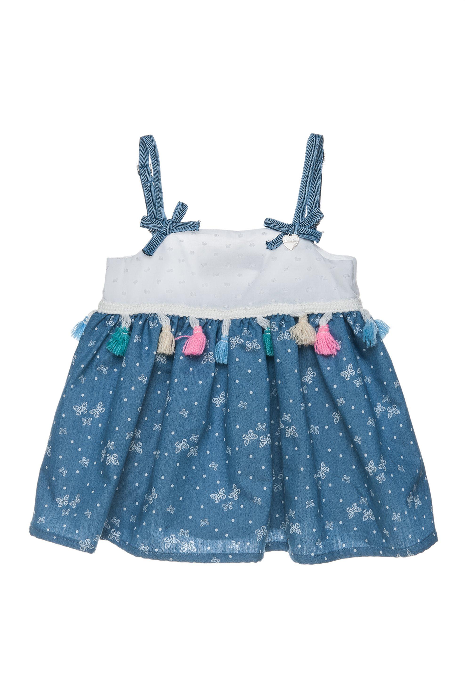 Παιδικό φόρεμα με κρόσσια Alouette - 00241210 - Λευκό παιδι   βρεφικα κοριτσι   0 3 ετων   ρούχα   φορέματα   φούστες