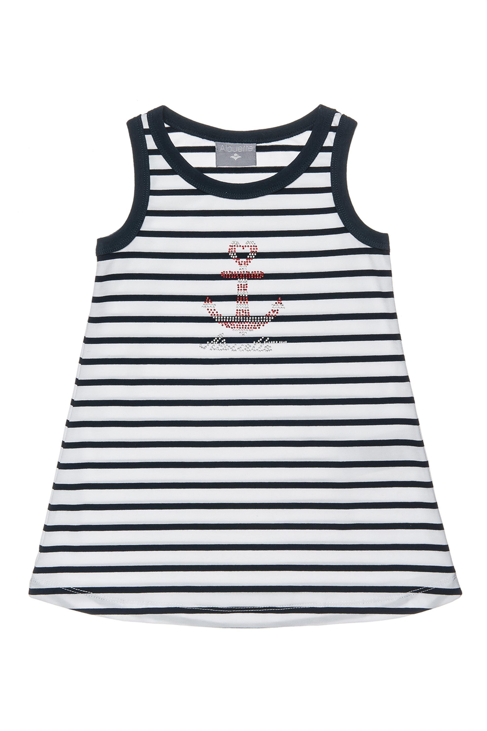 Βρεφικό αμάνικο ριγέ φόρεμα Alouette - 00241241 - Λευκό - Μπλε παιδι   βρεφικα κοριτσι   0 3 ετων   ρούχα   φορέματα   φούστες