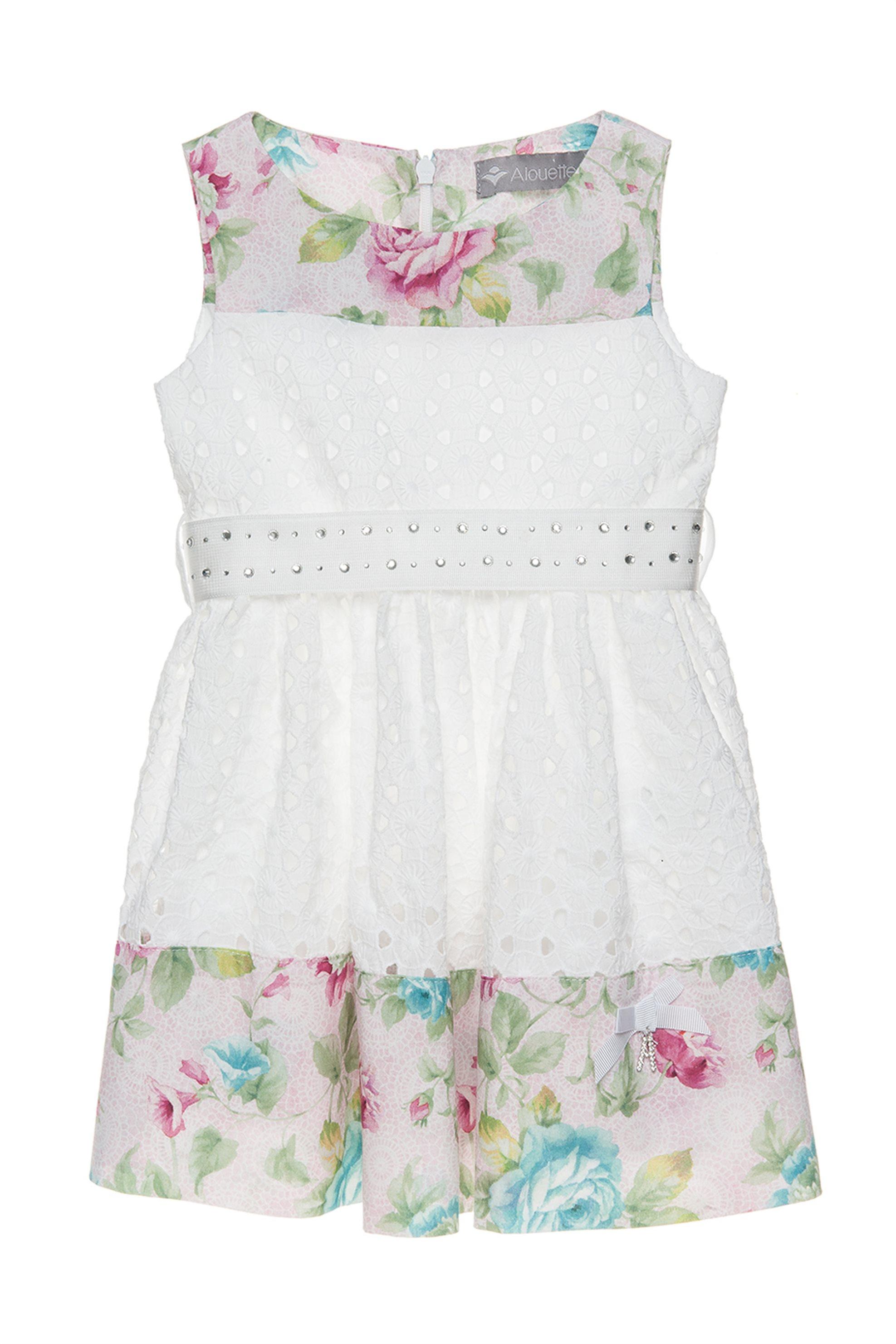Παιδικό φόρεμα αμάνικο με ζώνη Alouette - 00241217 - Λευκό παιδι   βρεφικα κοριτσι   0 3 ετων   κοριτσι   4 14 ετων   ρούχα   φορέματα   φο