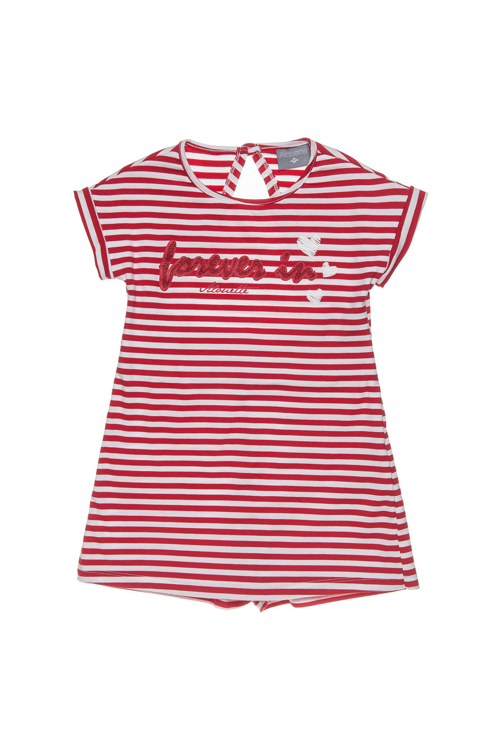 Παιδική σαλόπέτα σορτς με ανοιχτή πλάτη Alouette - 00912677 - Κόκκινο παιδι   κοριτσι   4 14 ετων   tops   παντελόνια   σαλοπέτες