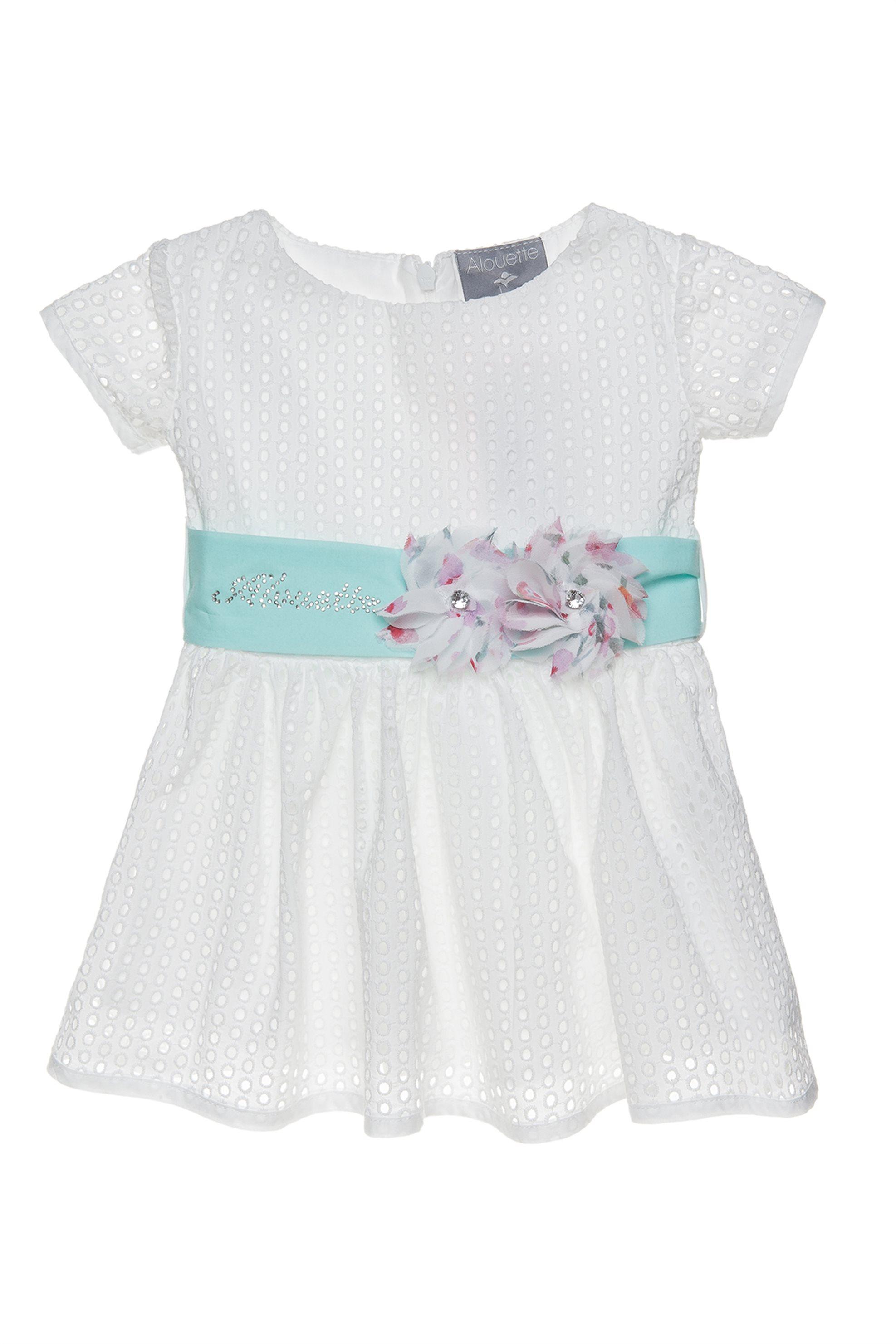 Βρεφικό φόρεμα από κοφτή δαντέλα με ζώνη Alouette - 00241164 - Λευκό παιδι   βρεφικα κοριτσι   0 3 ετων   ρούχα   φορέματα   φούστες