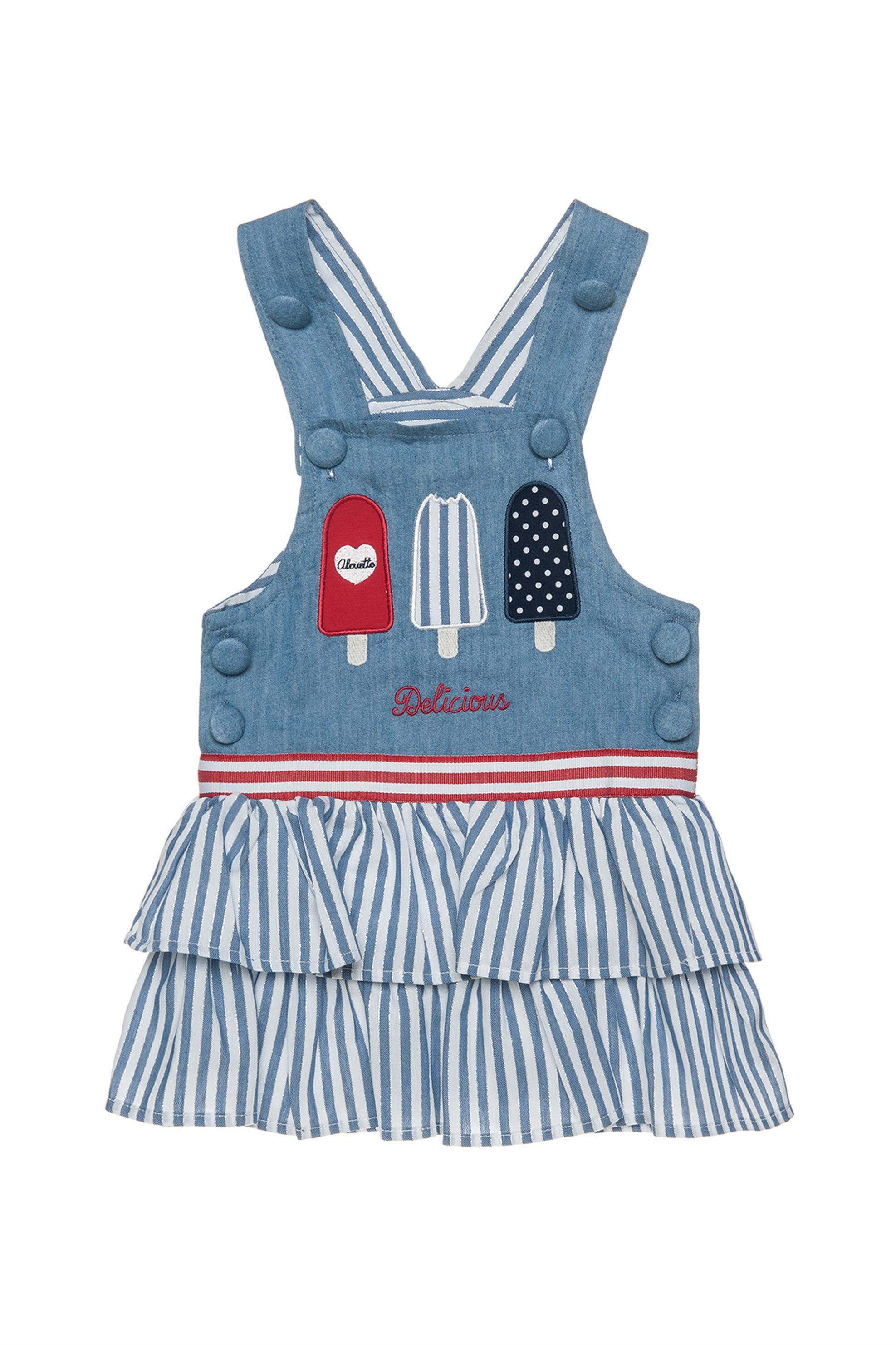 Βρεφικό φόρεμα - σαλοπέτα τζην Alouette - 00241181 - Μπλε παιδι   βρεφικα κοριτσι   0 3 ετων   ρούχα   φορέματα   φούστες