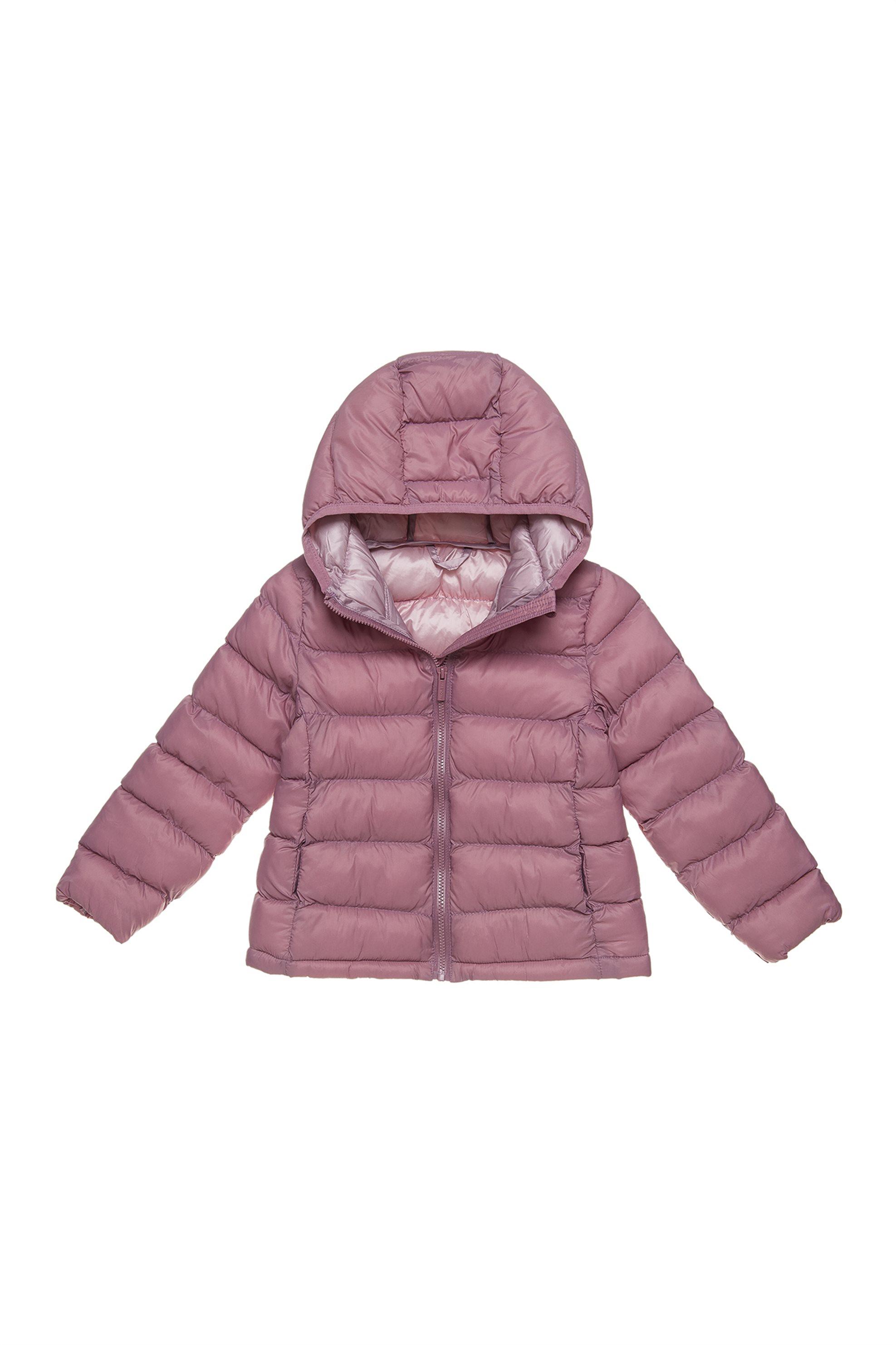Alouette παιδικό μπουφάν καπιτονέ με κουκούλα - 00260959 - Ροζ παιδι   βρεφικα κοριτσι   0 3 ετων   ρούχα   παλτό   μπουφάν