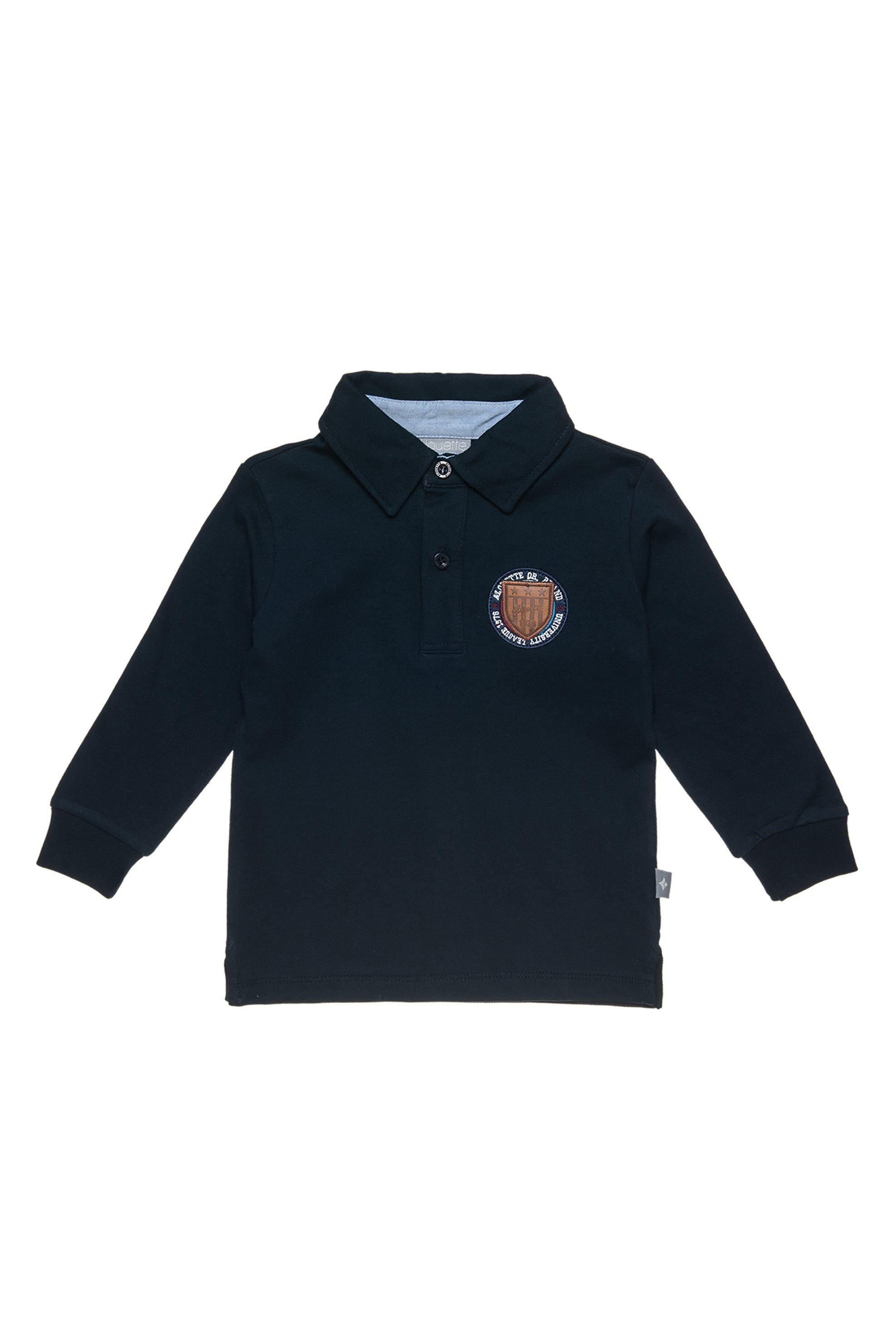 Notos Alouette παιδική μπλούζα polo με patch - 00221295 - Μπλε Σκούρο 7e5472c3d82