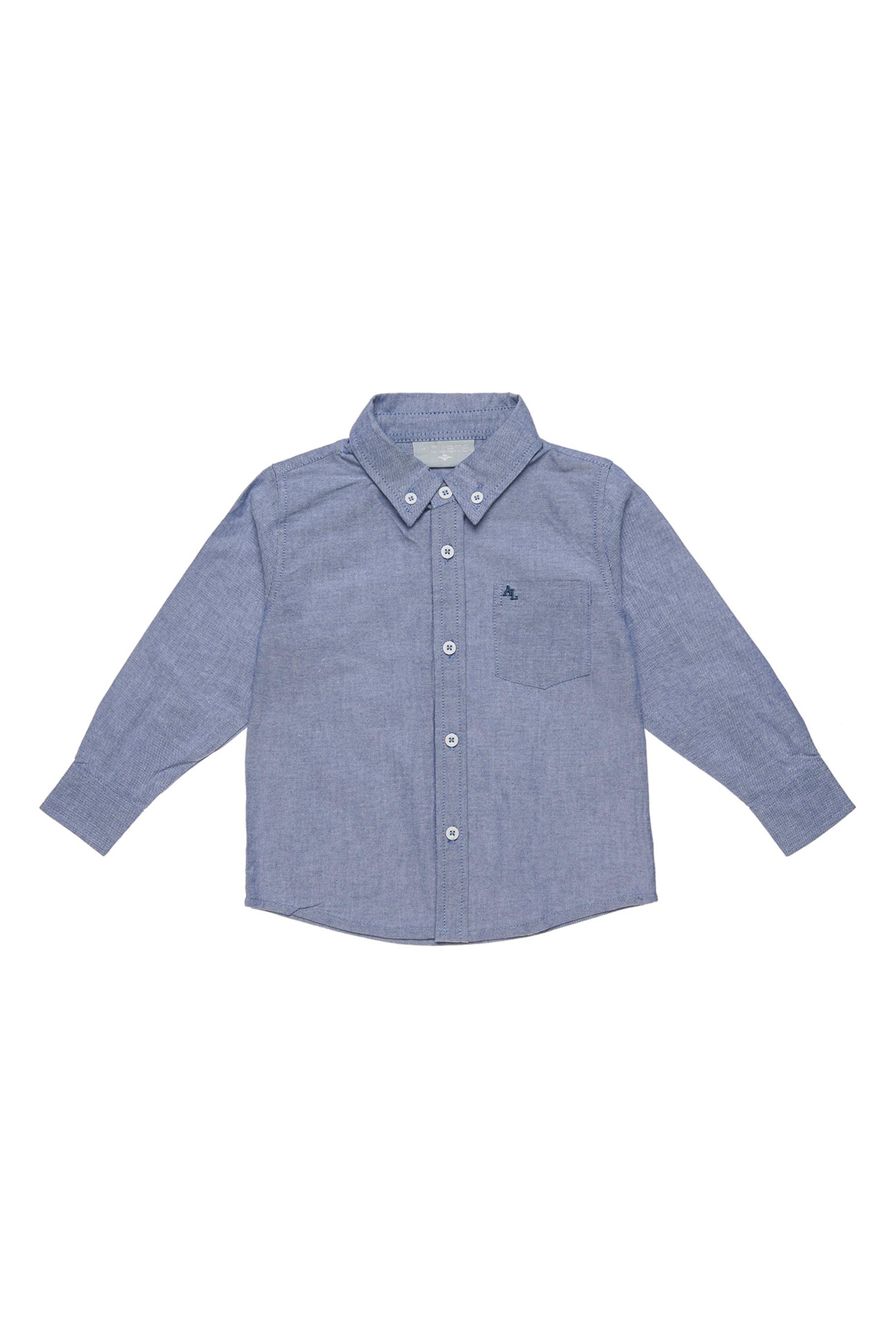 Notos Alouette παιδικό πουκάμισο με τσέπη - 00221296 - Μπλε a31a6446387