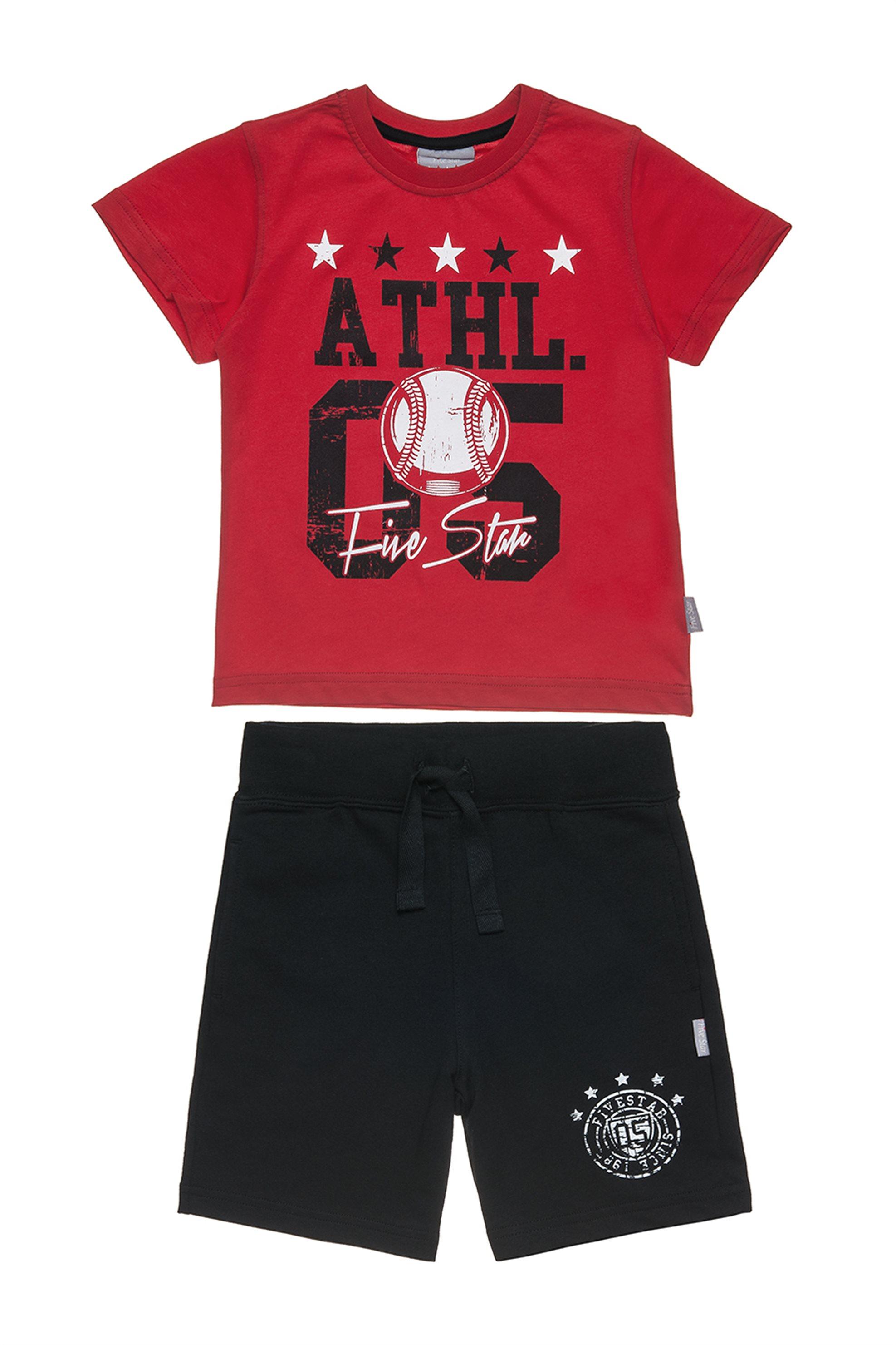 23e0a94462 Alouette παιδικό σετ T-shirt και βερμούδα με τύπωμα Five Star (2-5