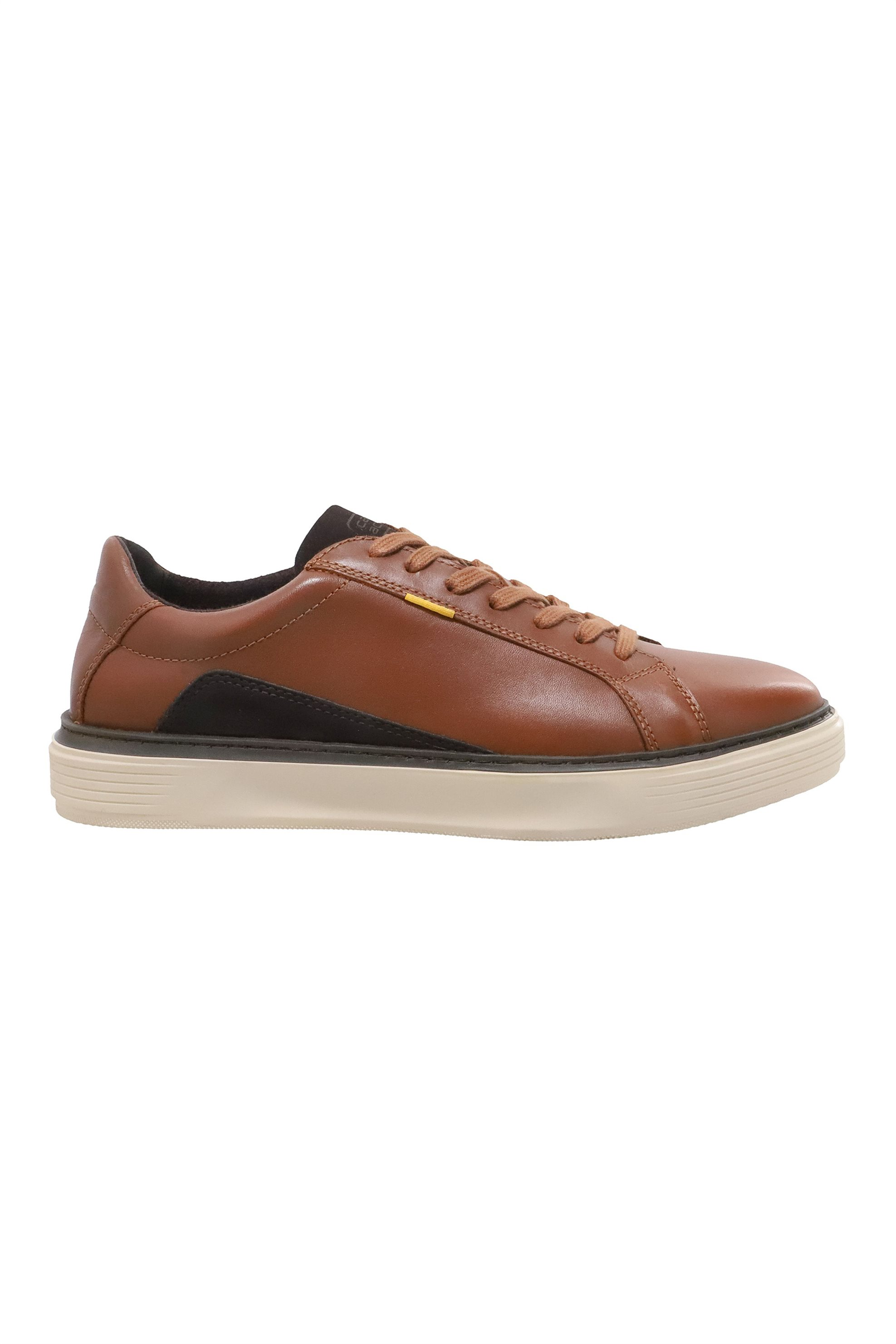 """Camel Active ανδρικά δερμάτινα sneakers """"Avol Low Lace"""" – CH-91-231240 – Ταμπά"""