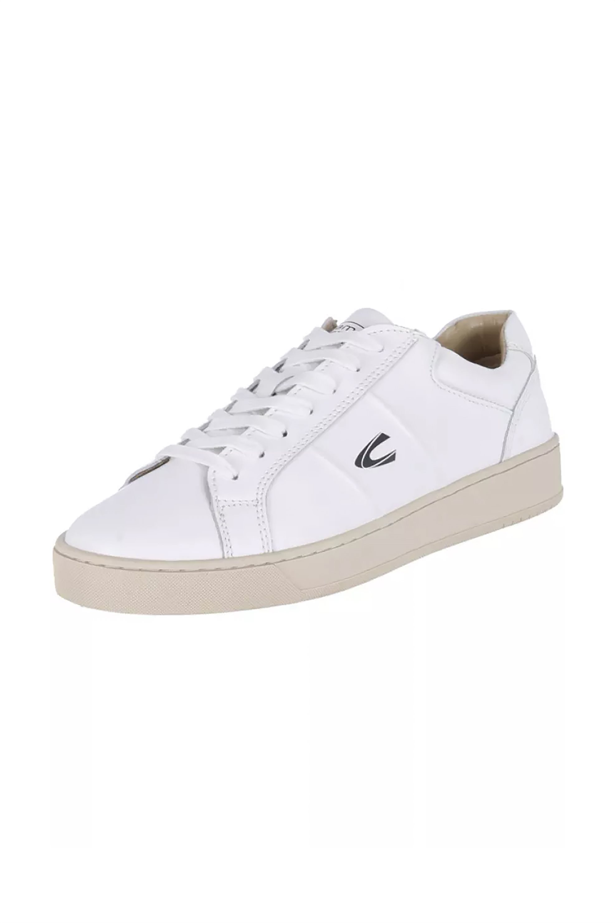 """Camel Active ανδρικά δερμάτινα sneakers με logo """"Cloud Low Lace"""" – CH-91-231249 – Λευκό"""