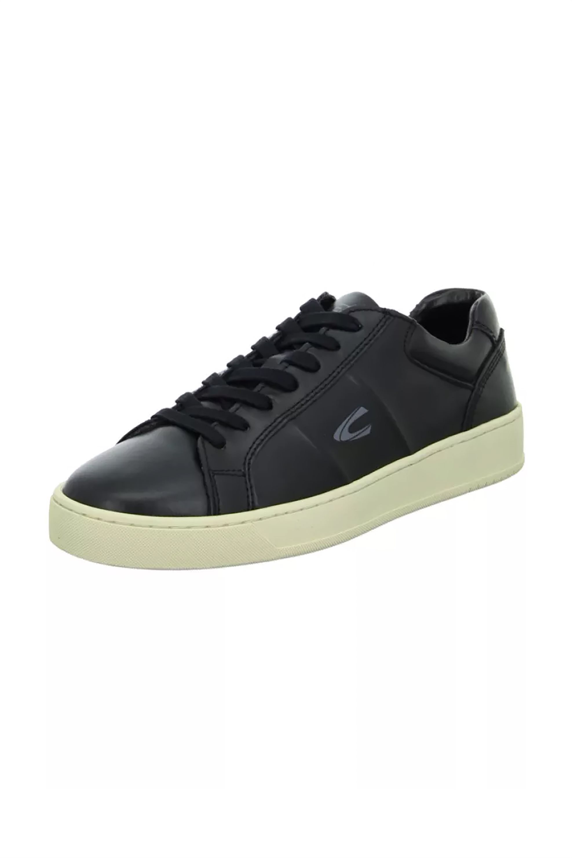"""Camel Active ανδρικά δερμάτινα sneakers με logo """"Cloud Low Lace"""" – CH-91-231249 – Μαύρο"""