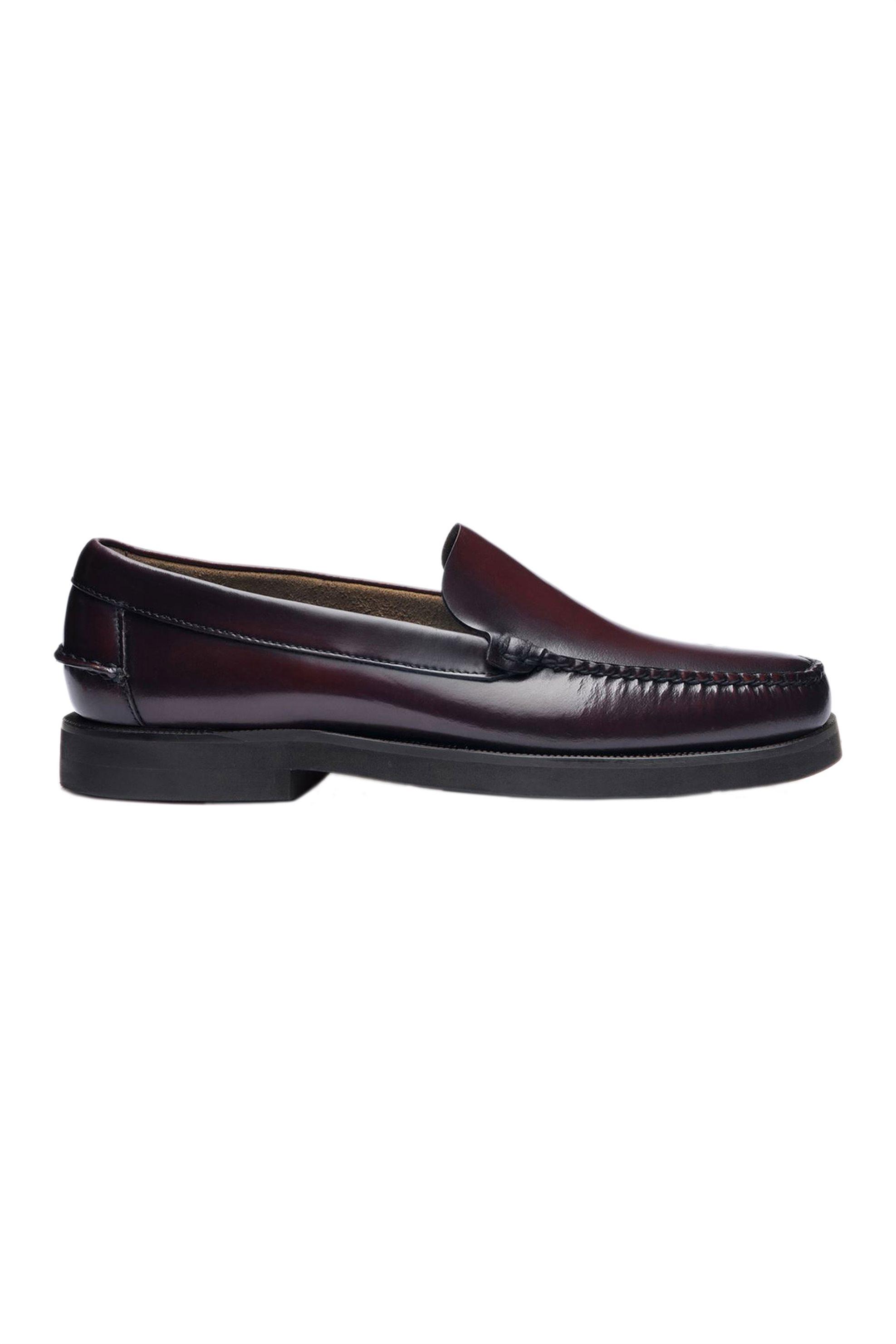 "Sebago® ανδρικά penny loafers δερμάτινα ""Frank Polaris"" – L7001G70-903R – Μπορντό"